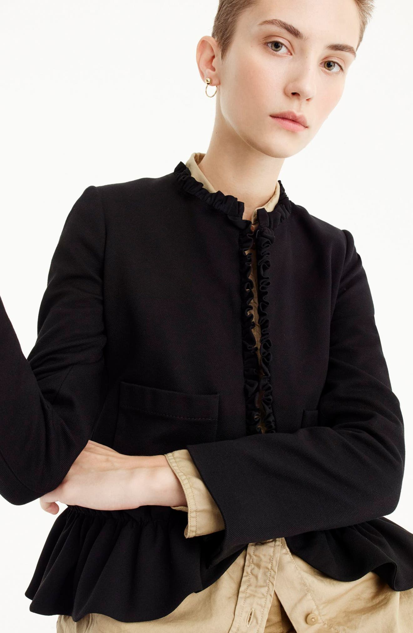 J.Crew The Going Out Blazer with Ruffles