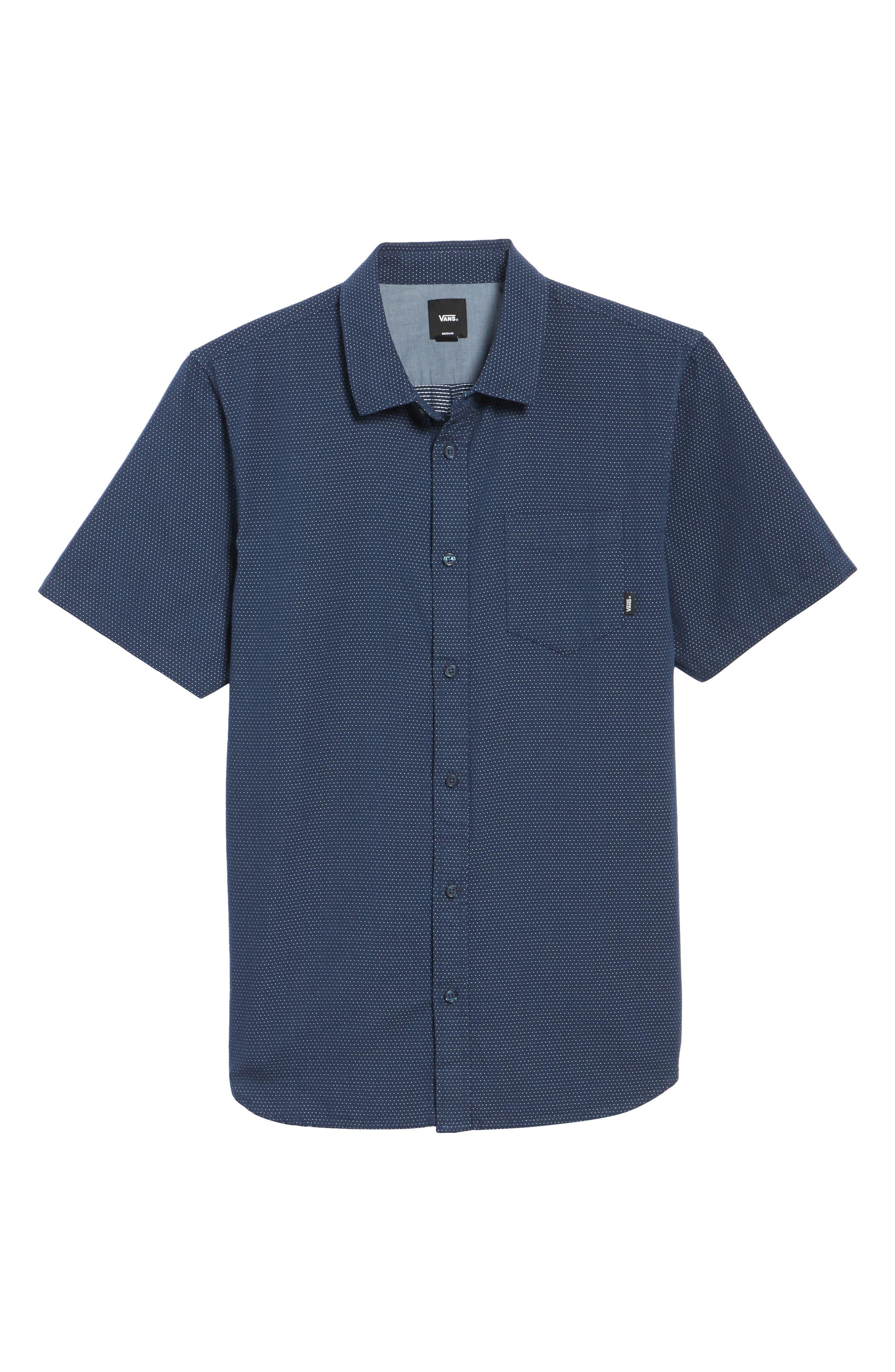 Giddings Short Sleeve Shirt,                             Alternate thumbnail 6, color,                             Dress Blues