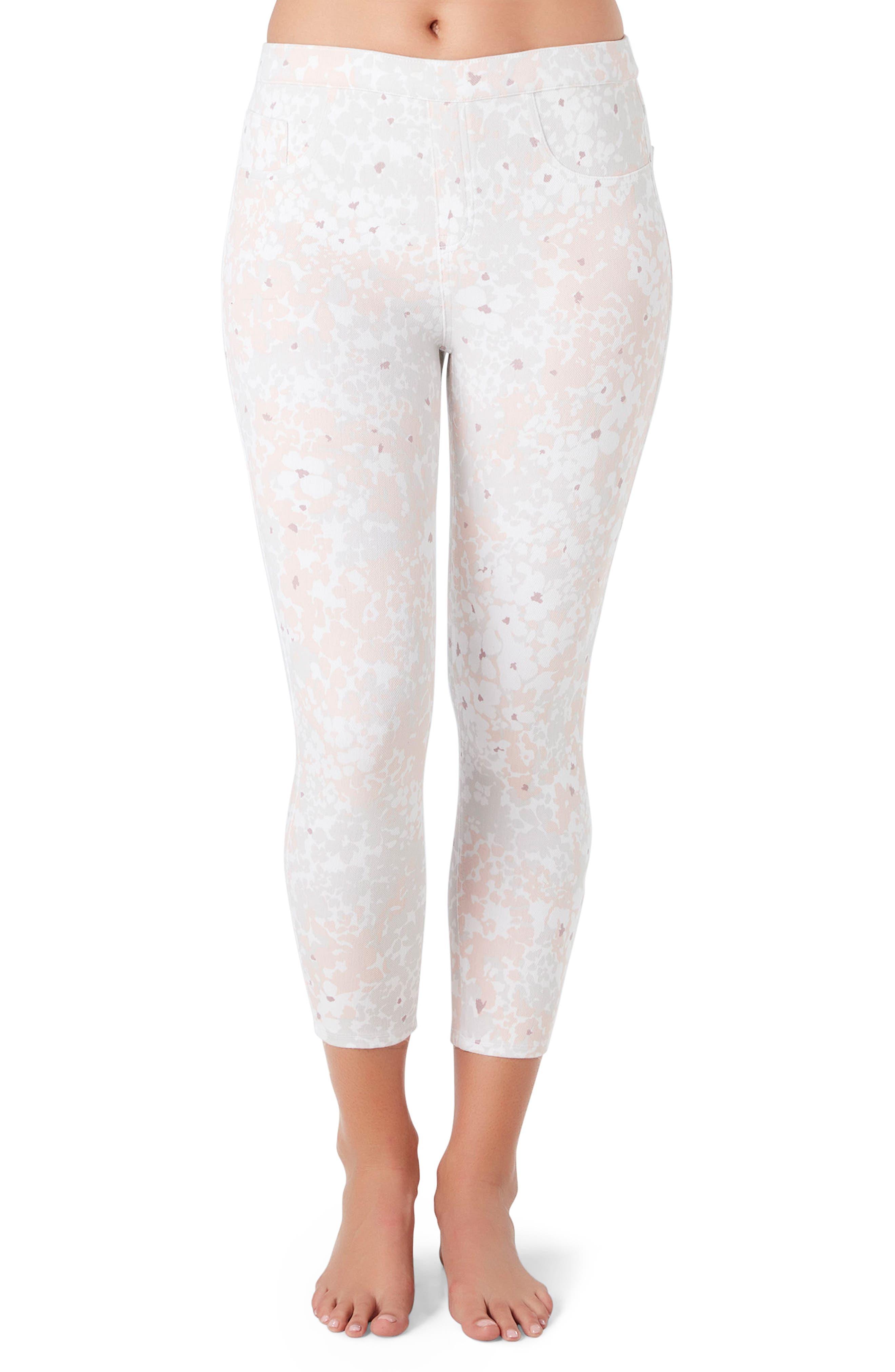Crop Jean-ish Leggings,                         Main,                         color, Blush Petal