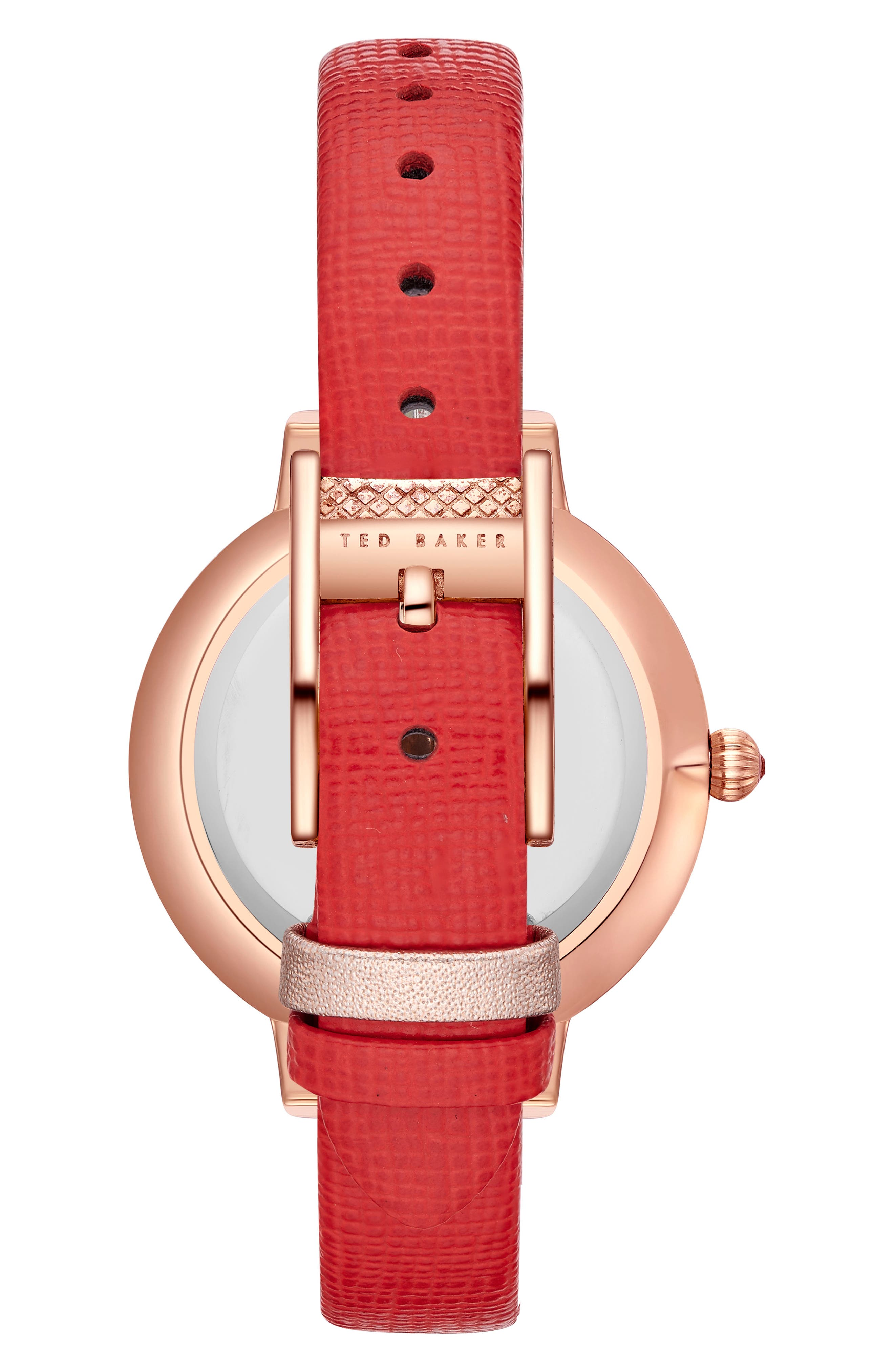 Alternate Image 2  - Ted Baker London Kate Leather Strap Watch, 36mm