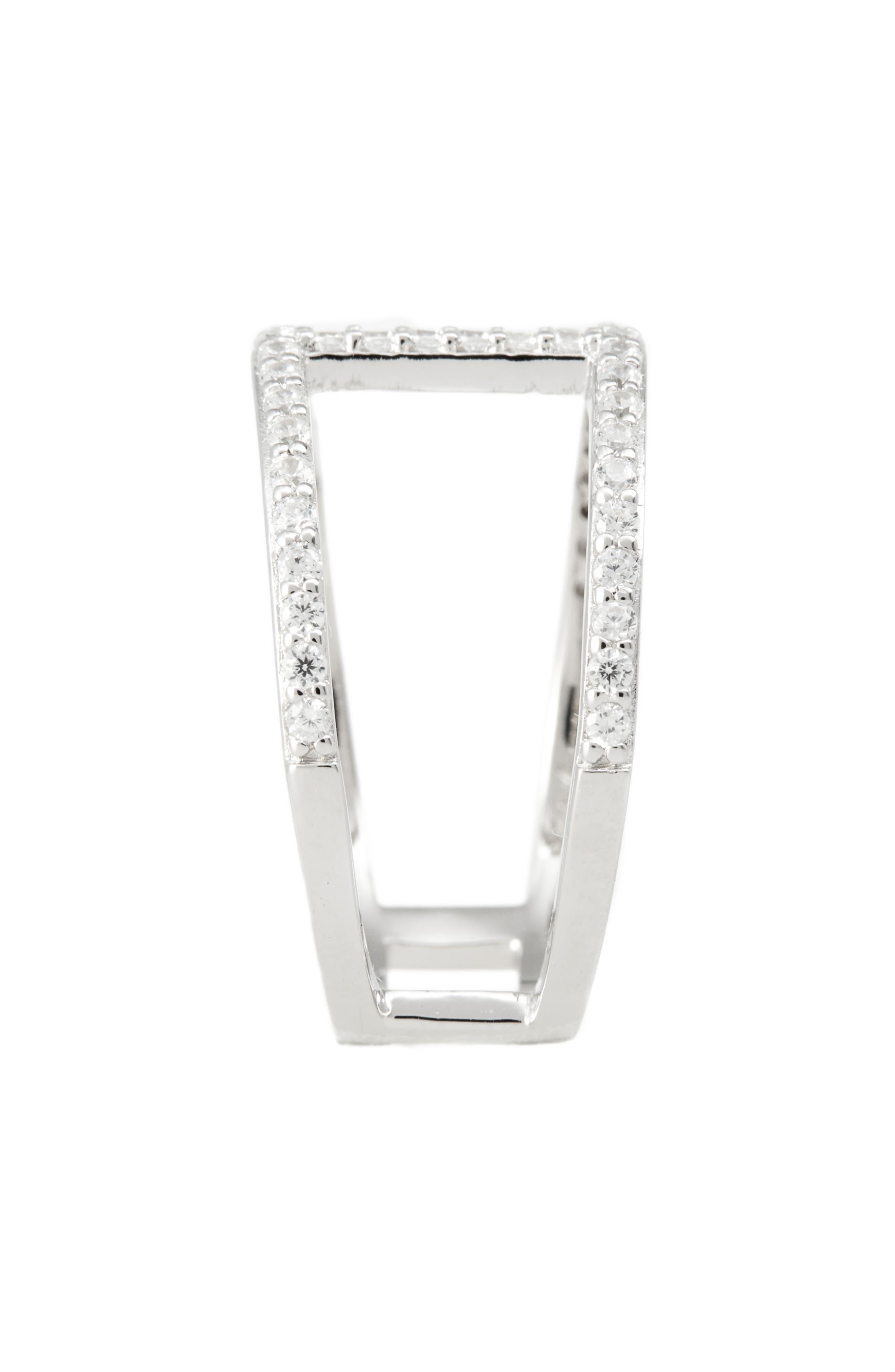 Split Pavé Ring,                             Alternate thumbnail 2, color,                             Platinum