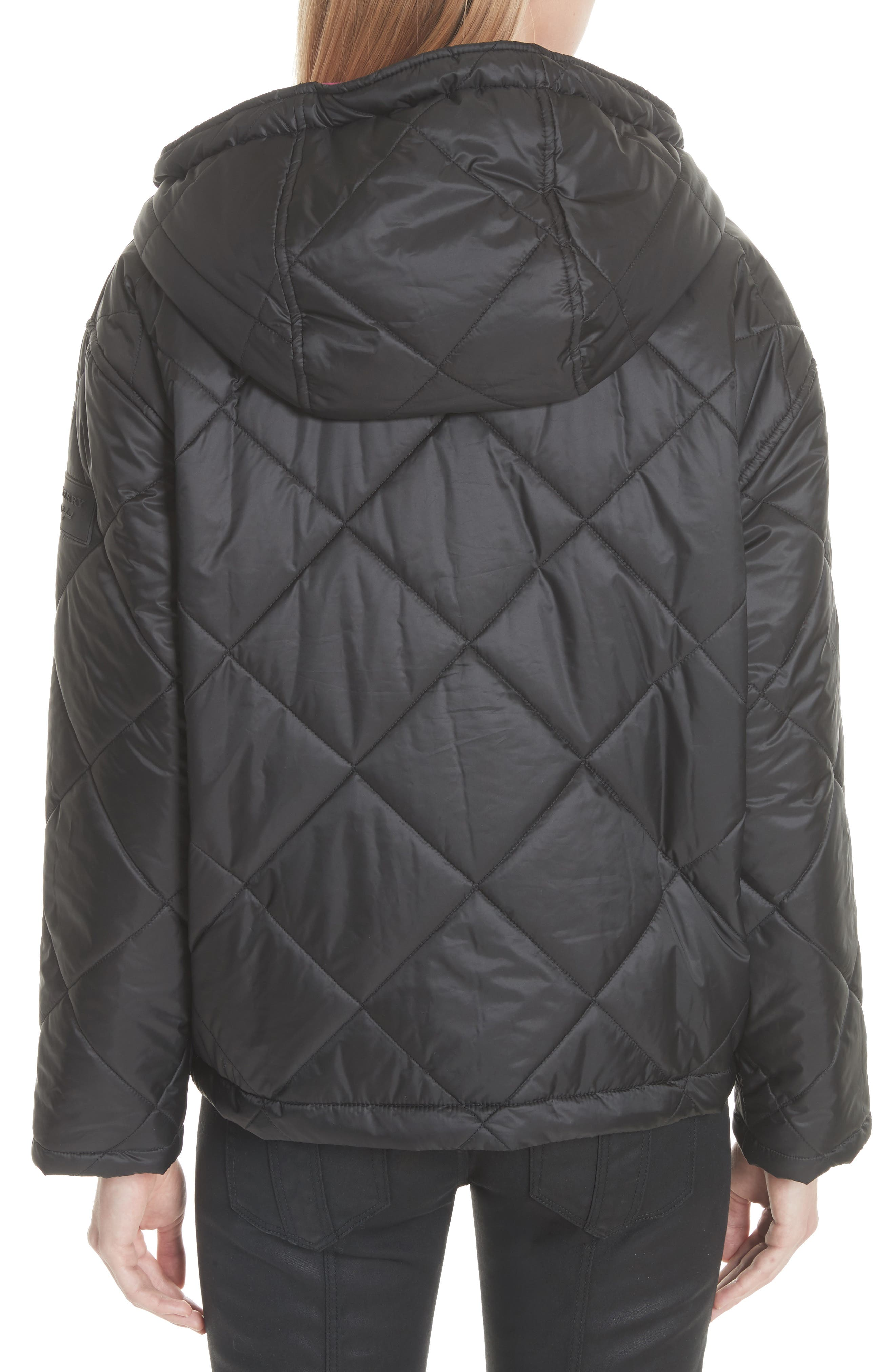 Tyneham Lined Quilted Jacket,                             Alternate thumbnail 2, color,                             Black