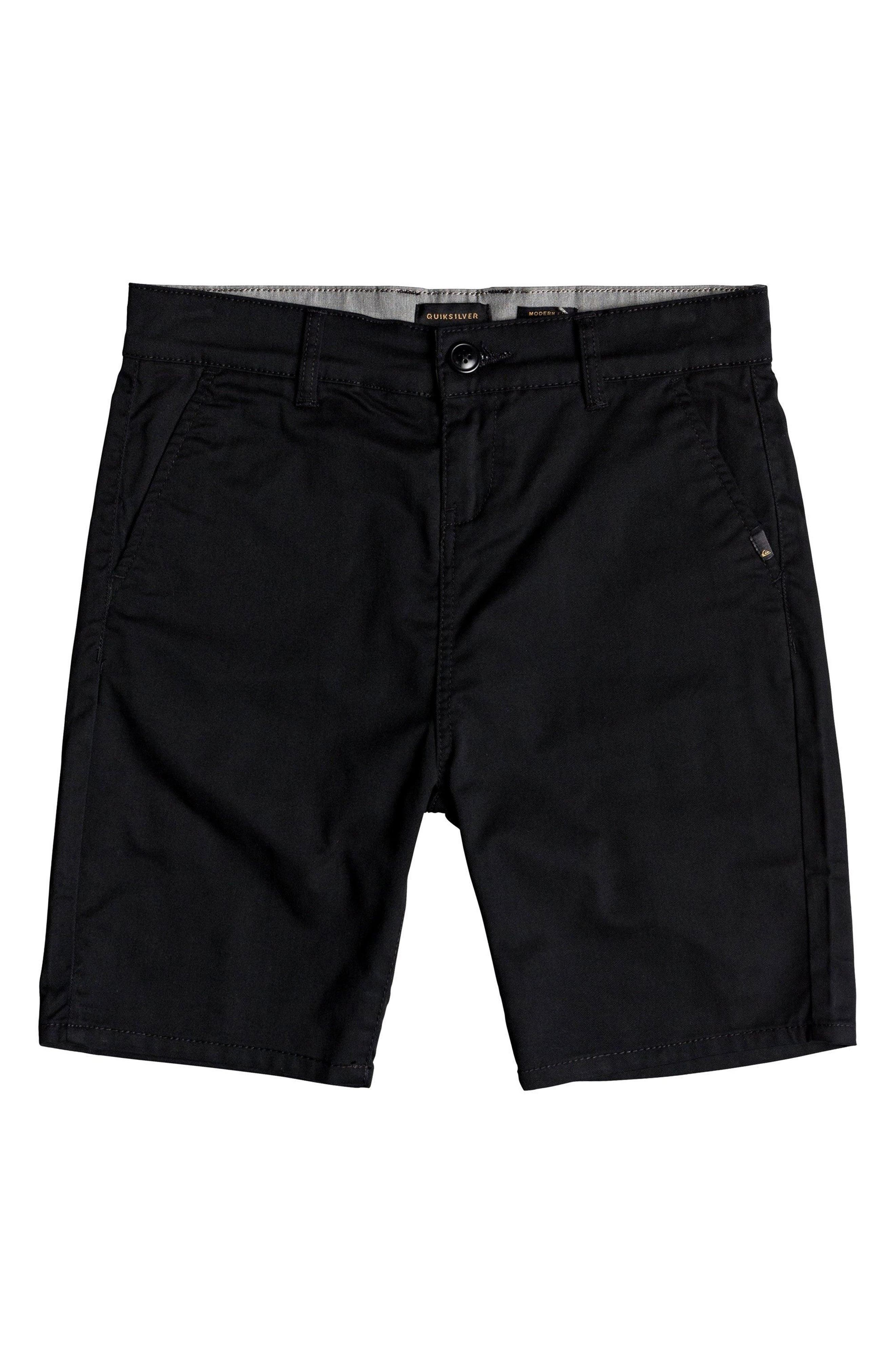 Everyday Union Stretch Shorts,                             Main thumbnail 1, color,                             Black