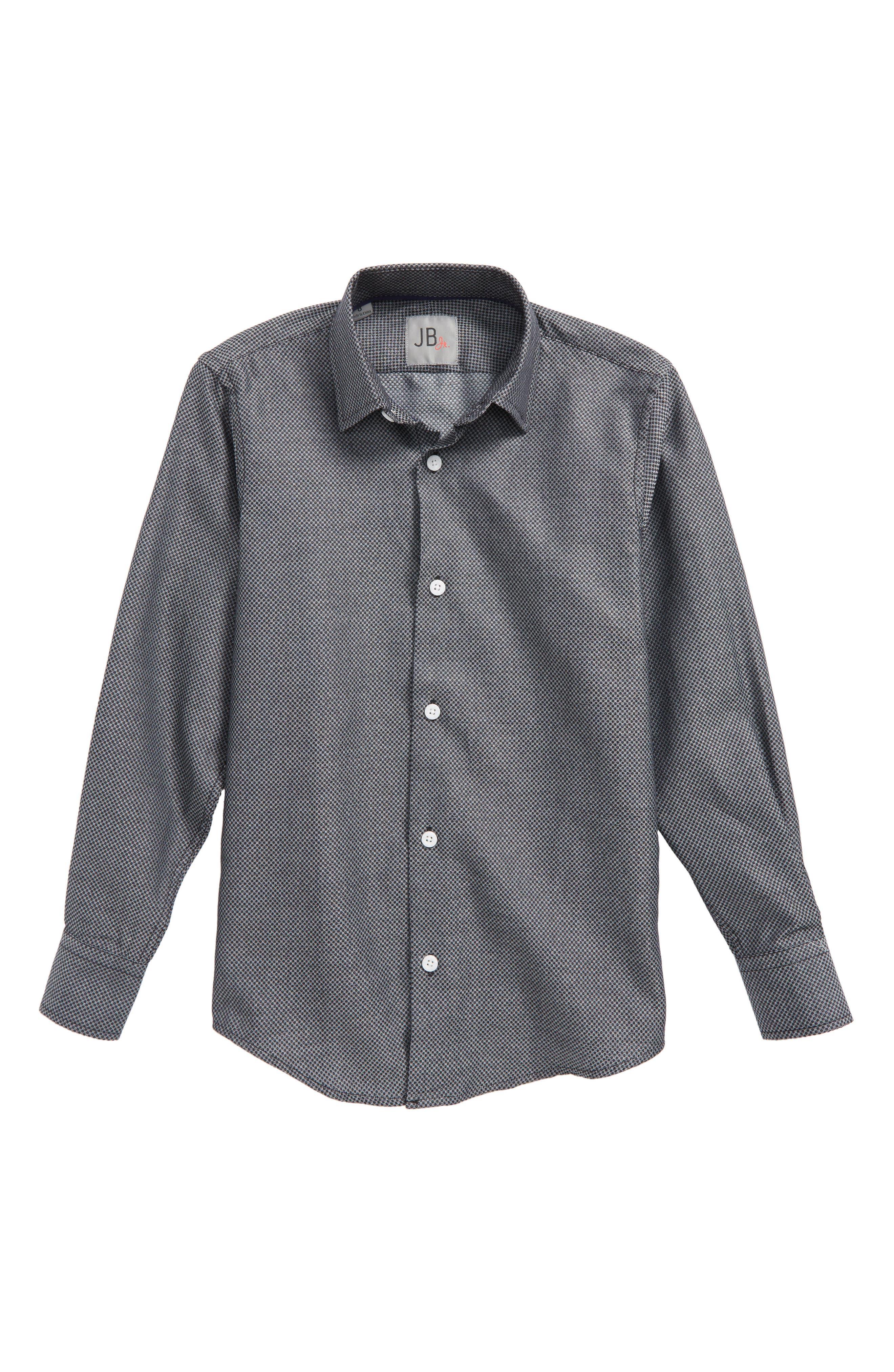 Solid Dress Shirt,                         Main,                         color, Black