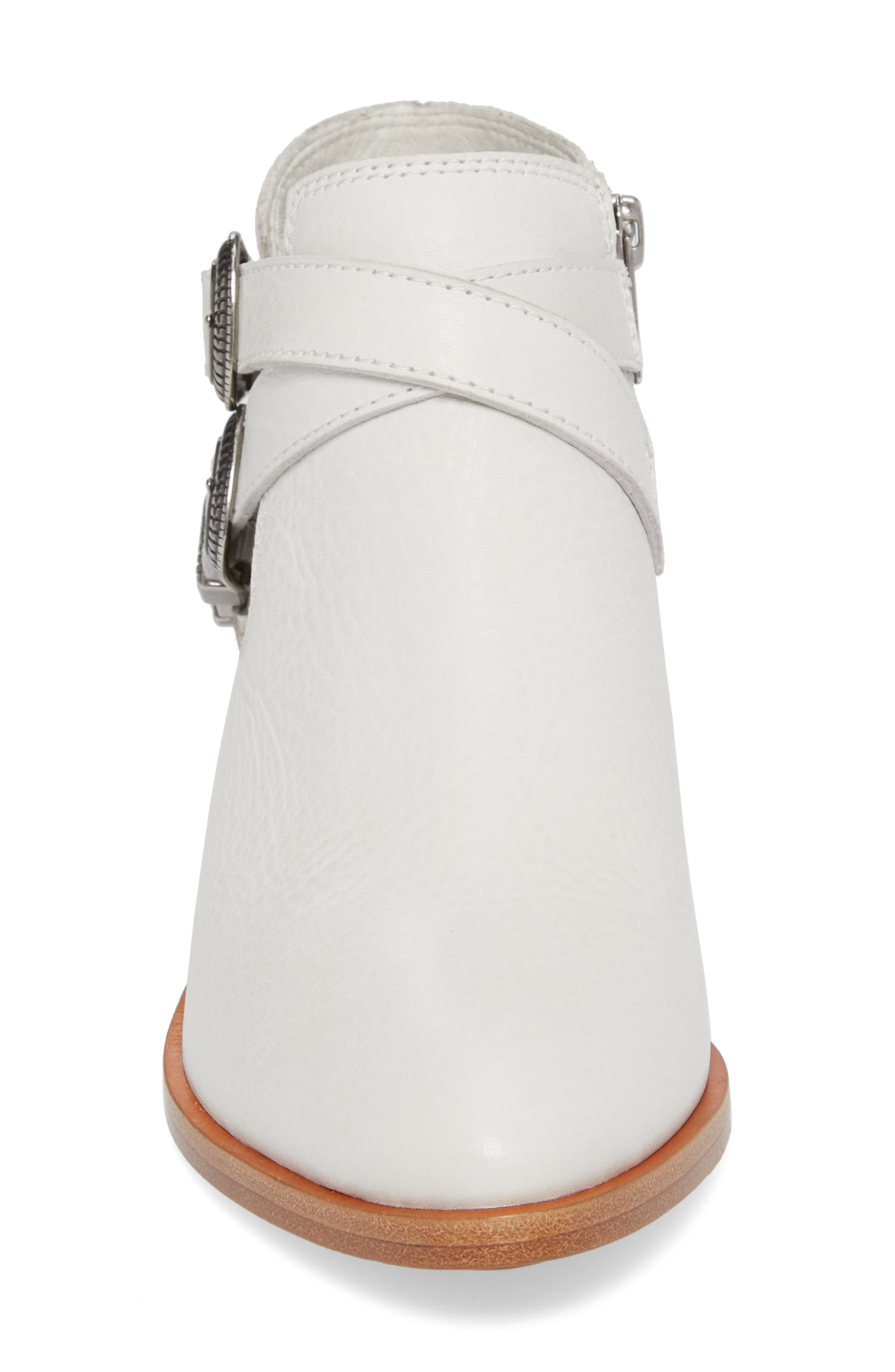 Ray Western Bootie,                             Alternate thumbnail 4, color,                             White/ White Leather