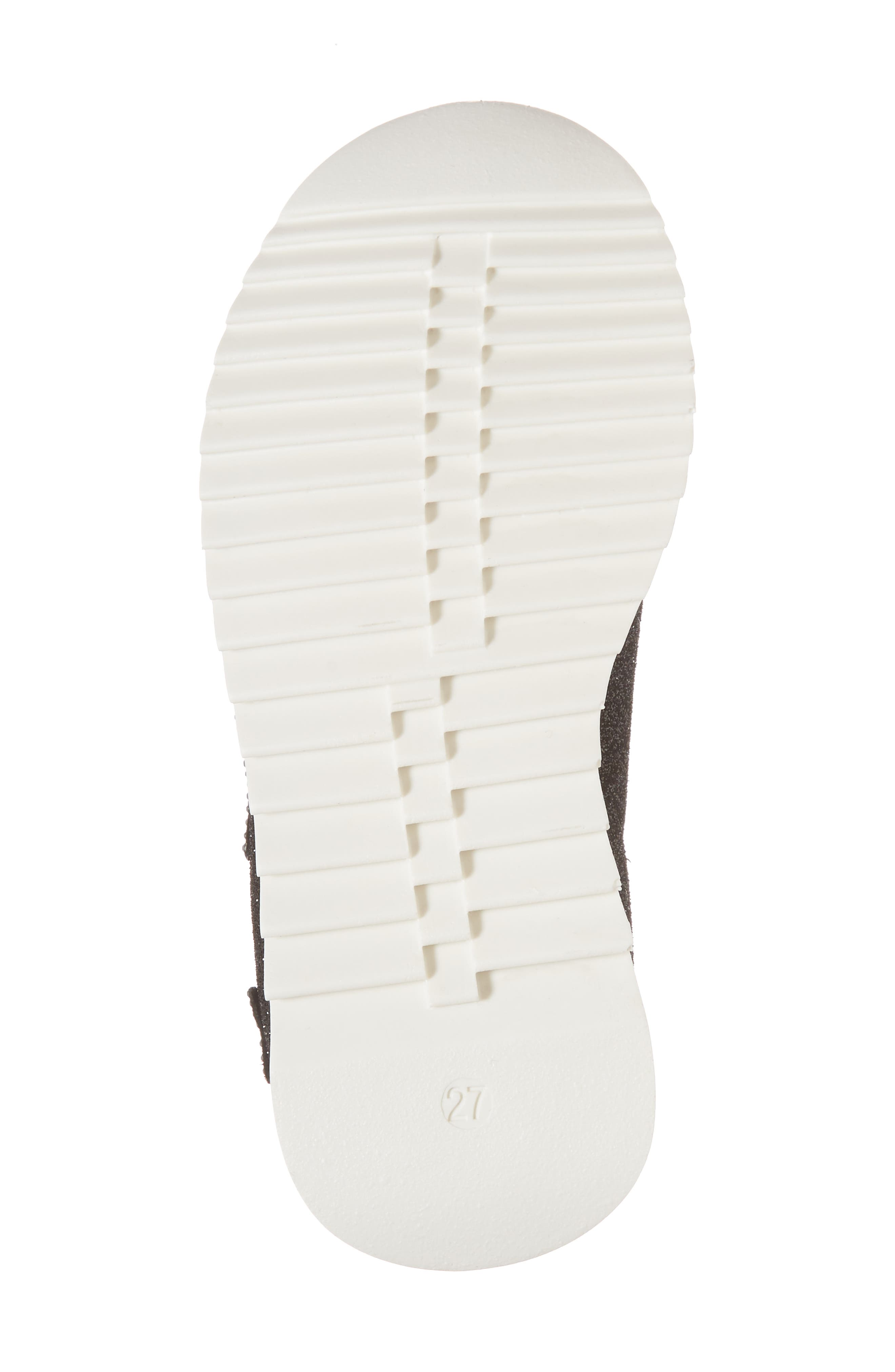 Natalie Star Glitter Slip-On Sneaker,                             Alternate thumbnail 6, color,                             Black