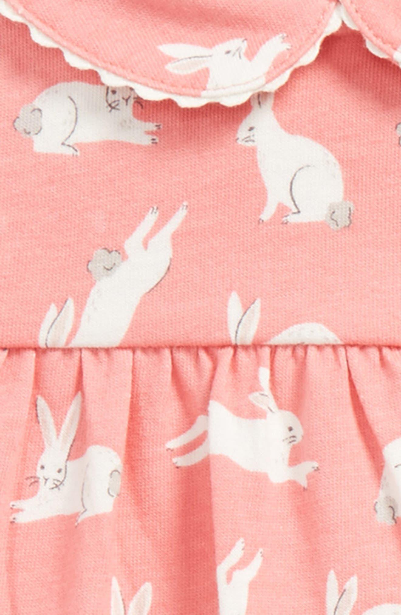 Alternate Image 2  - Mini Boden Bunnies Print Jersey Dress (Baby Girls & Toddler Girls)