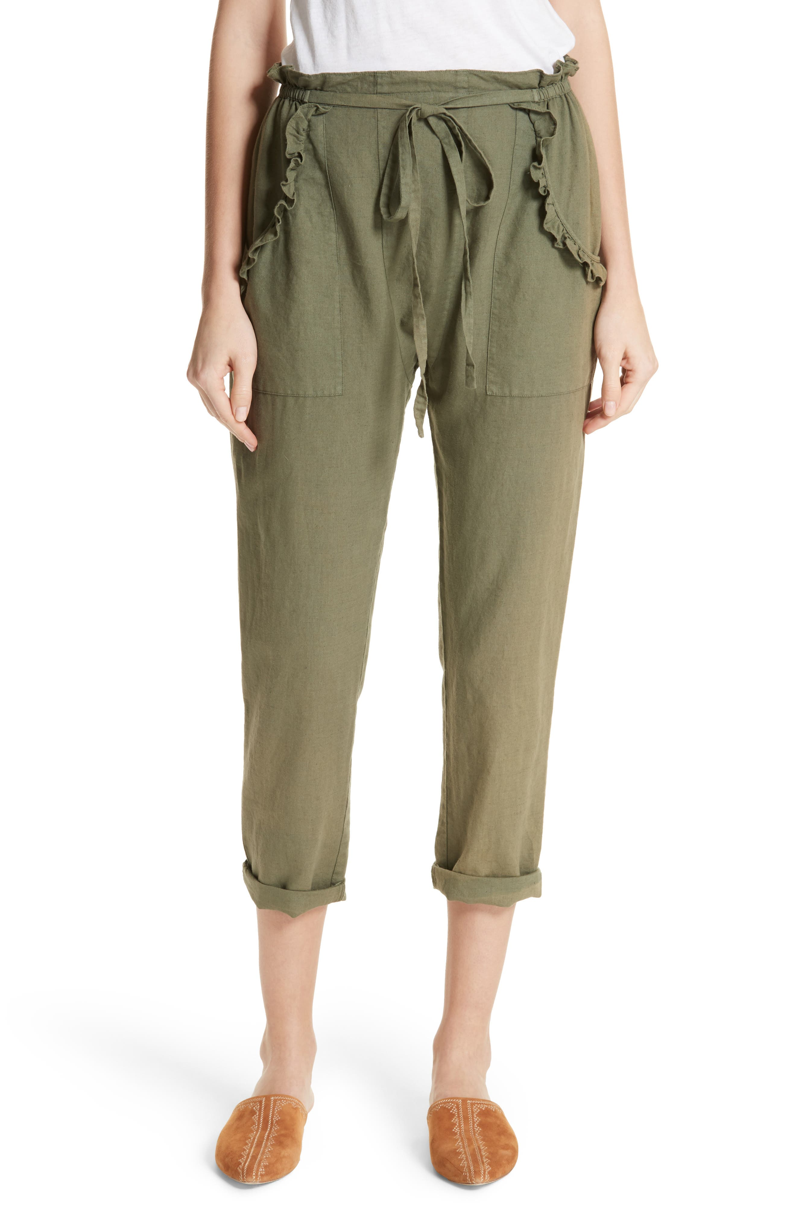 The Tulip Pants,                         Main,                         color, Army Green
