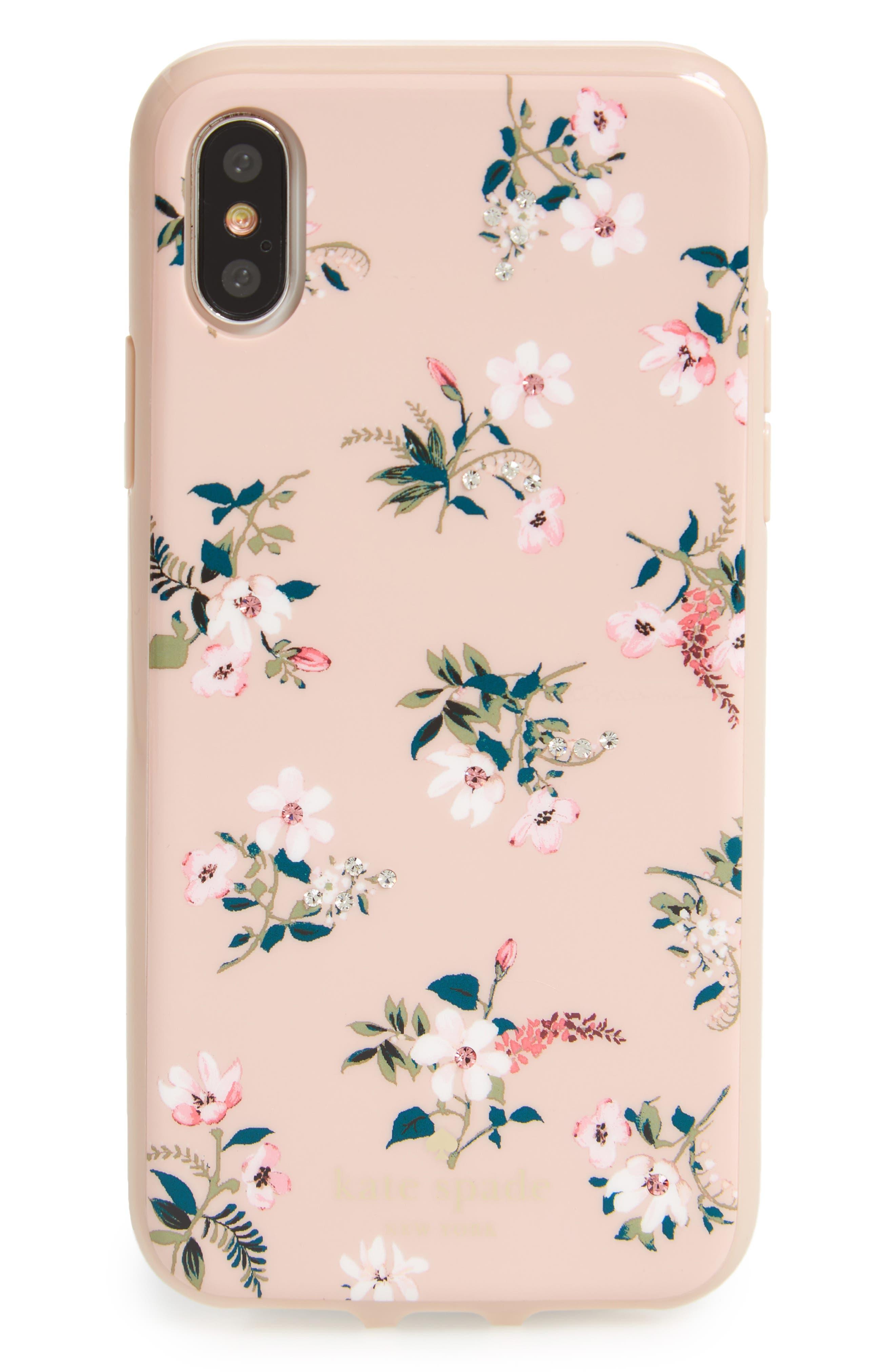 kate spade new york jeweled flora iPhone X case