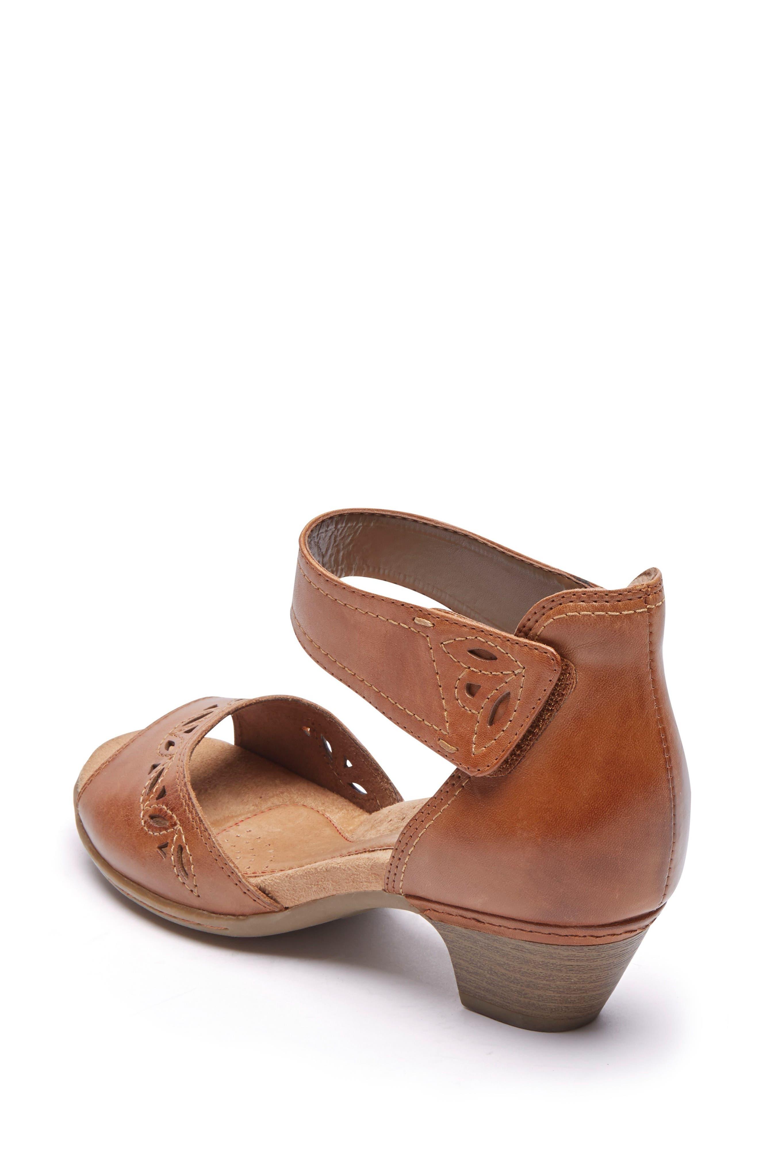 Abbott Perforated Sandal,                             Alternate thumbnail 2, color,                             Tan Leather