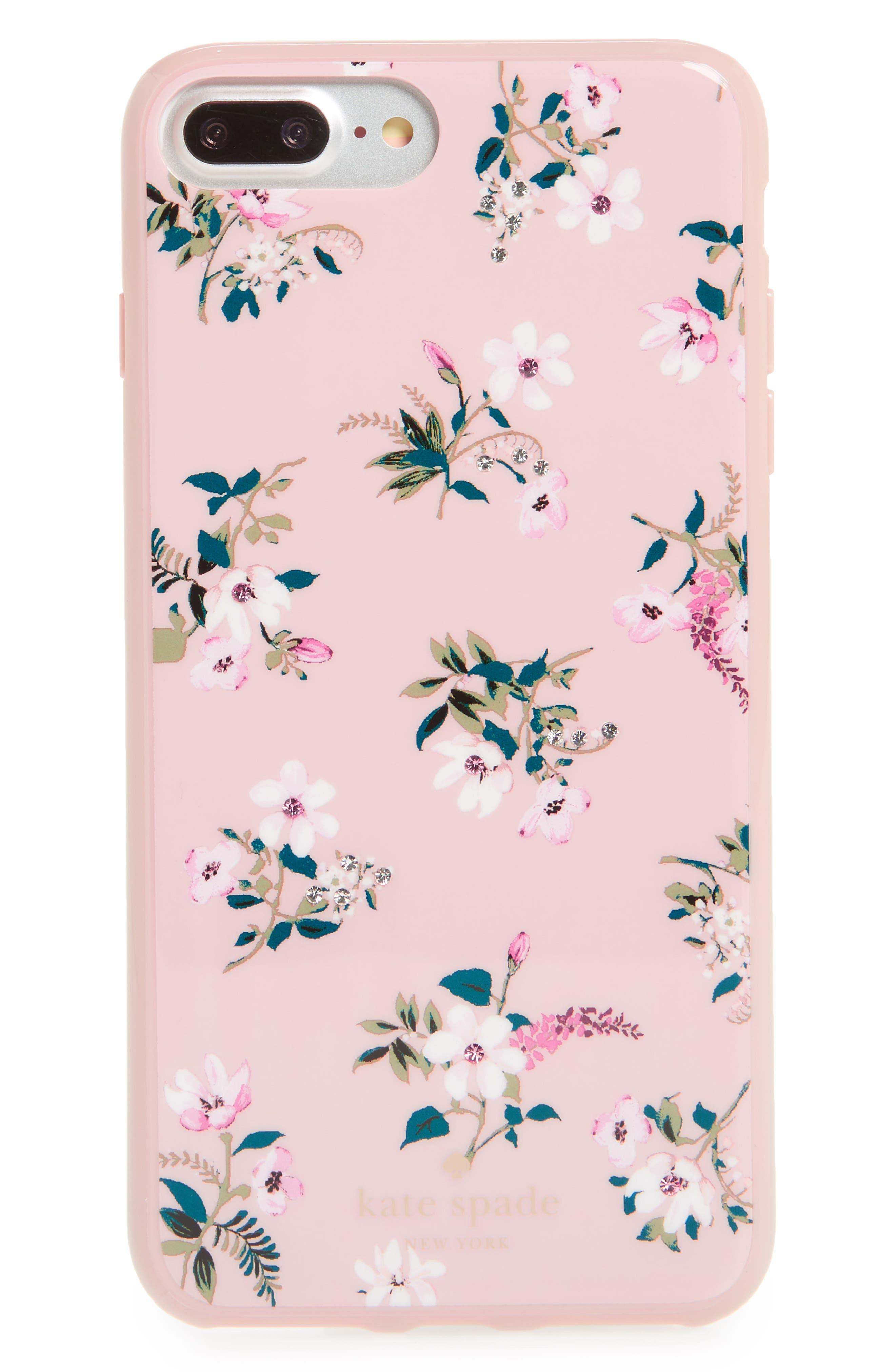 kate spade new york jeweled flora iPhone 7/8 & 7/8 Plus case