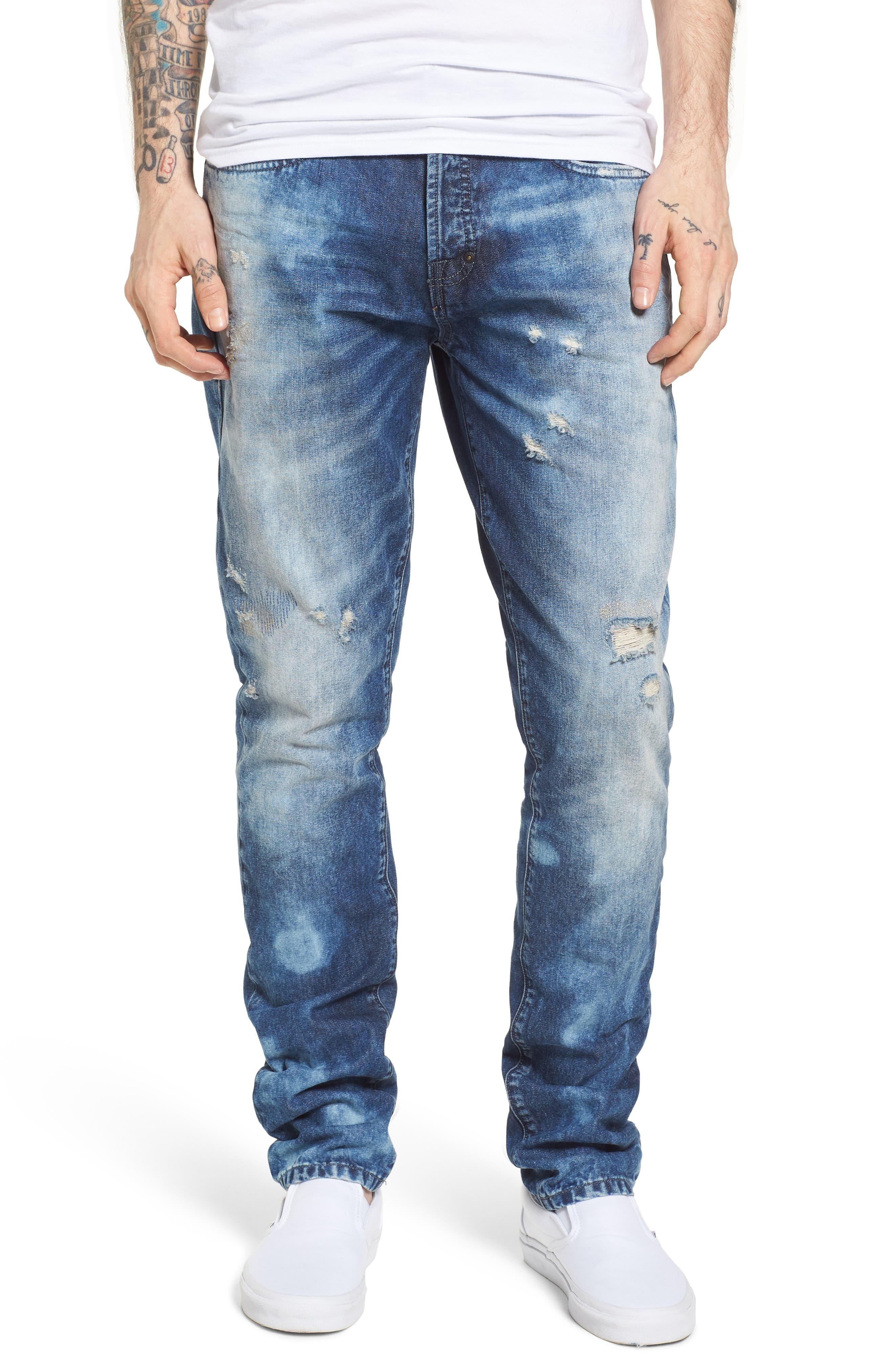 Le Sabre Slim Fit Jeans,                             Main thumbnail 1, color,                             Litany