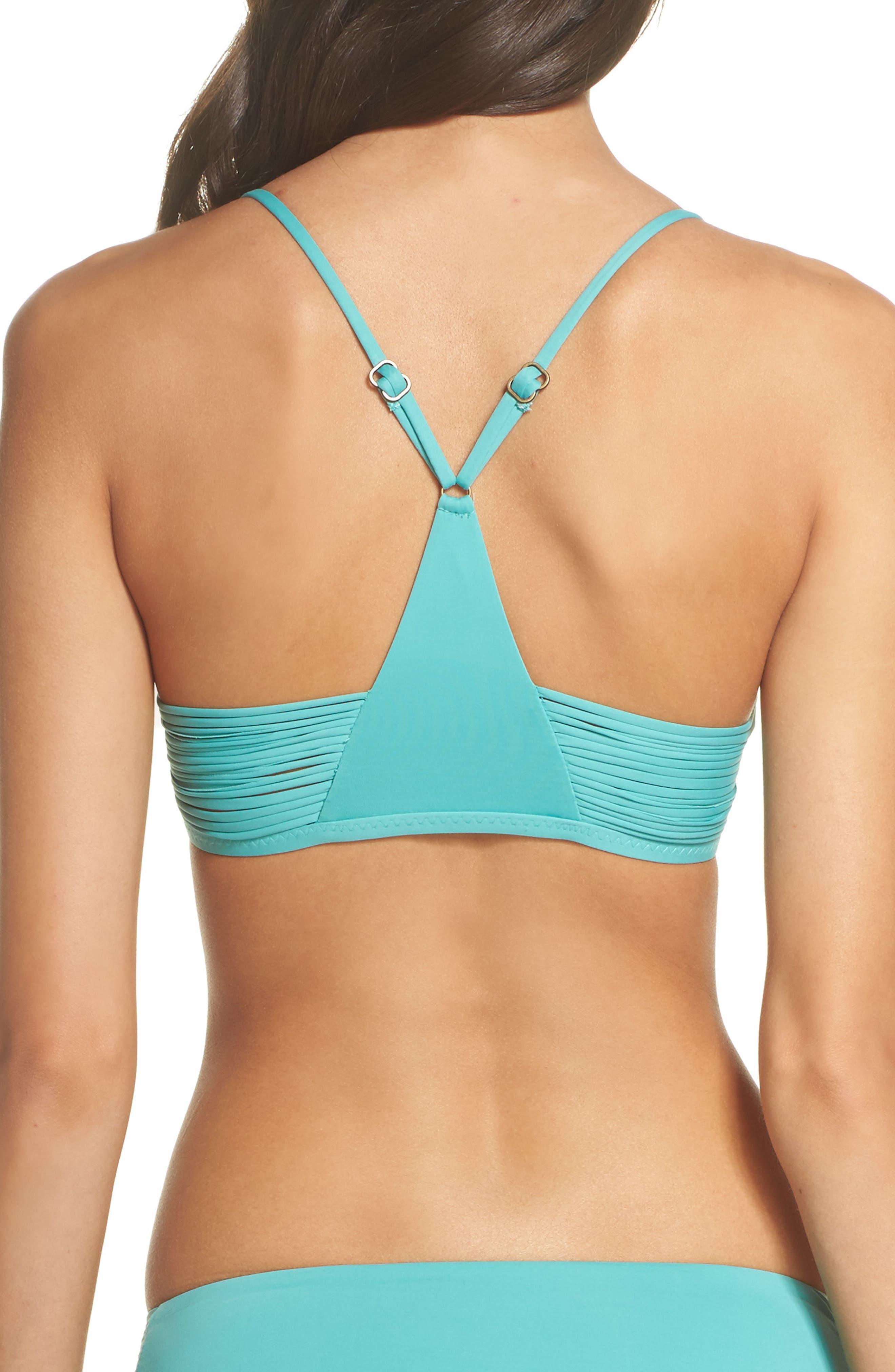 Beach Solids Bikini Top,                             Alternate thumbnail 2, color,                             Caribbean