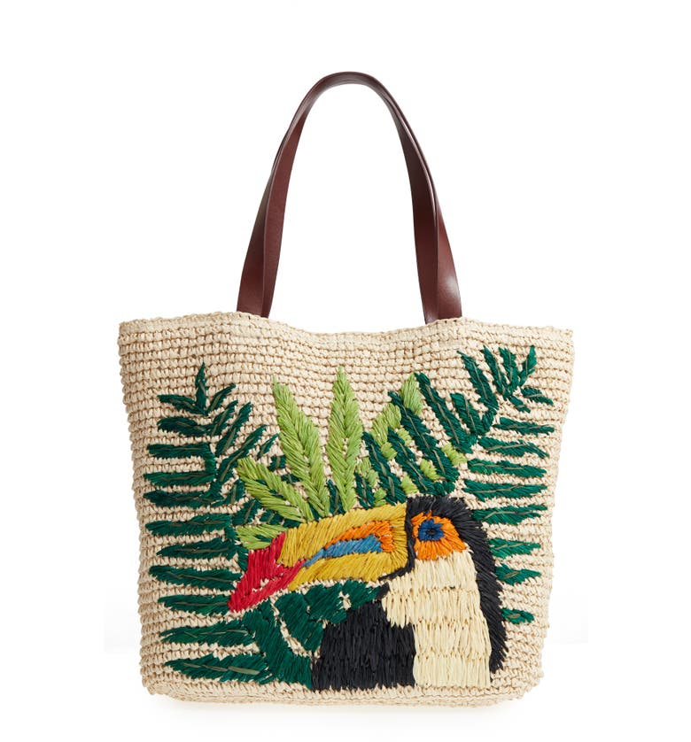 Nordstrom Toucan Packable Woven Raffia Tote | Nordstrom