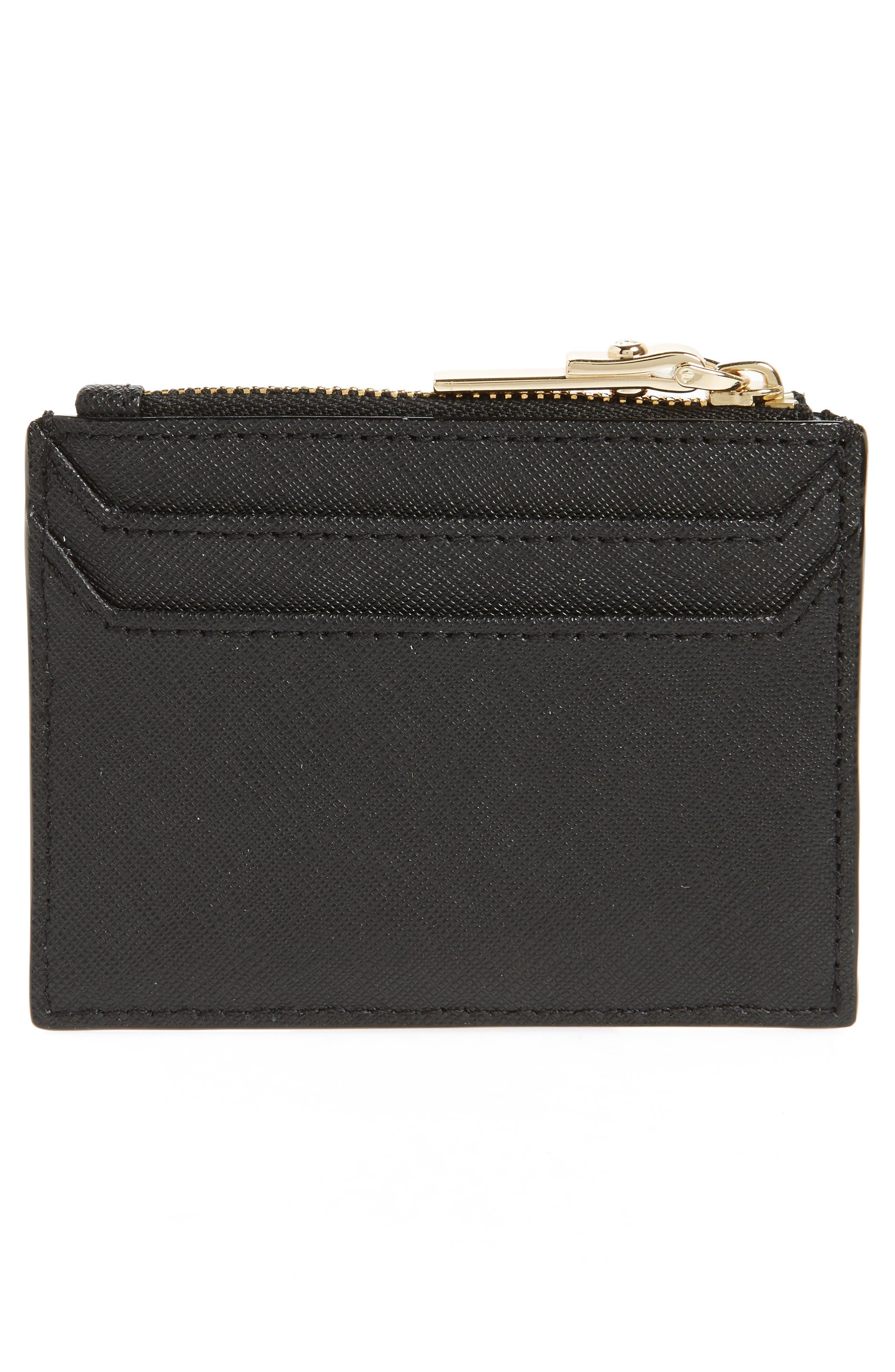 cameron street - lalena leather card case,                             Alternate thumbnail 2, color,                             Black