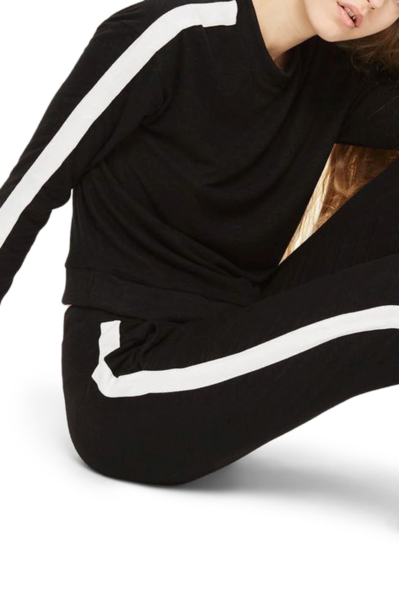 Side Stripe Sweatshirt,                         Main,                         color, Black Multi