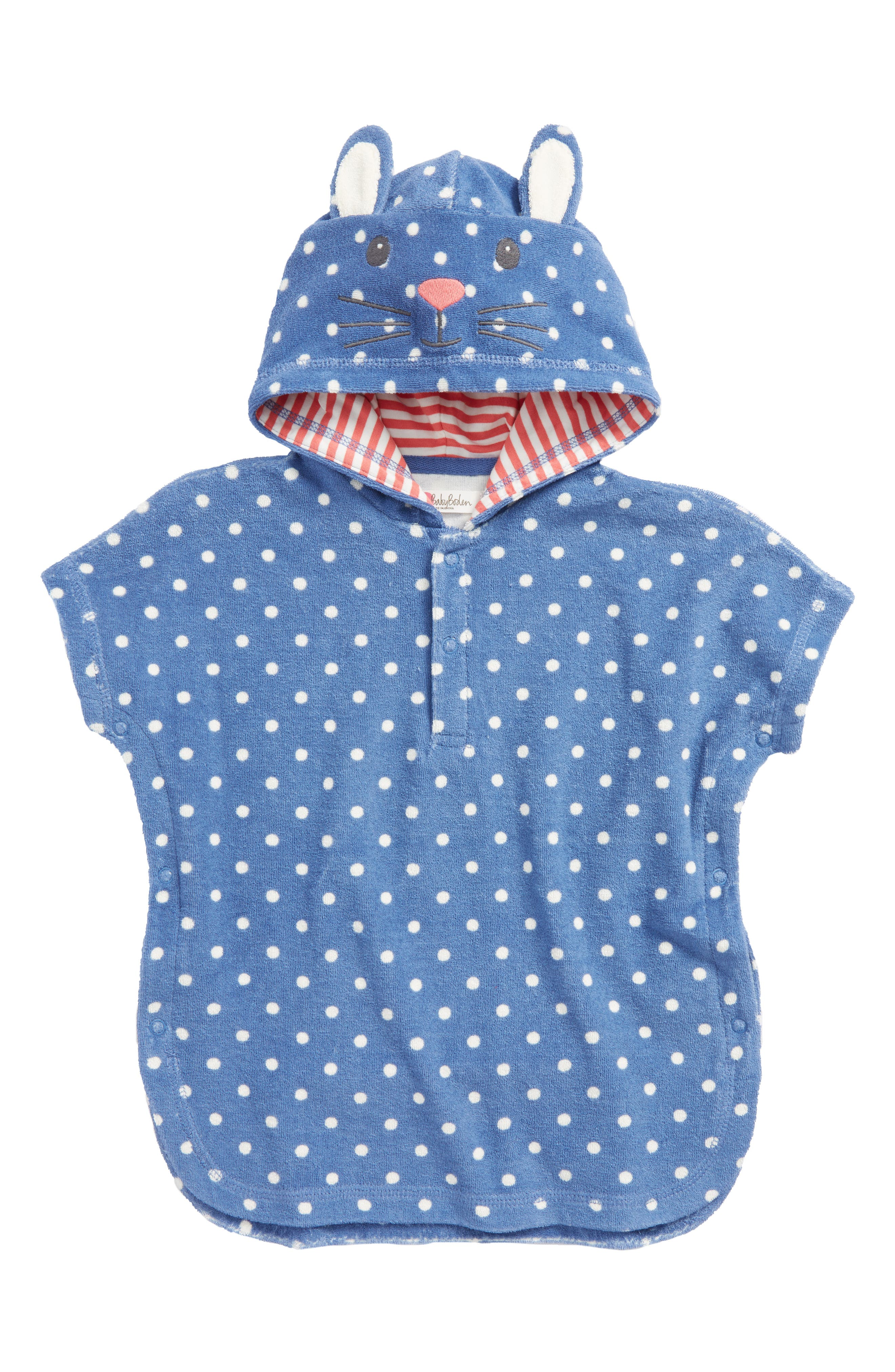 Novelty Toweling Pullover,                         Main,                         color, Washed Bluebell