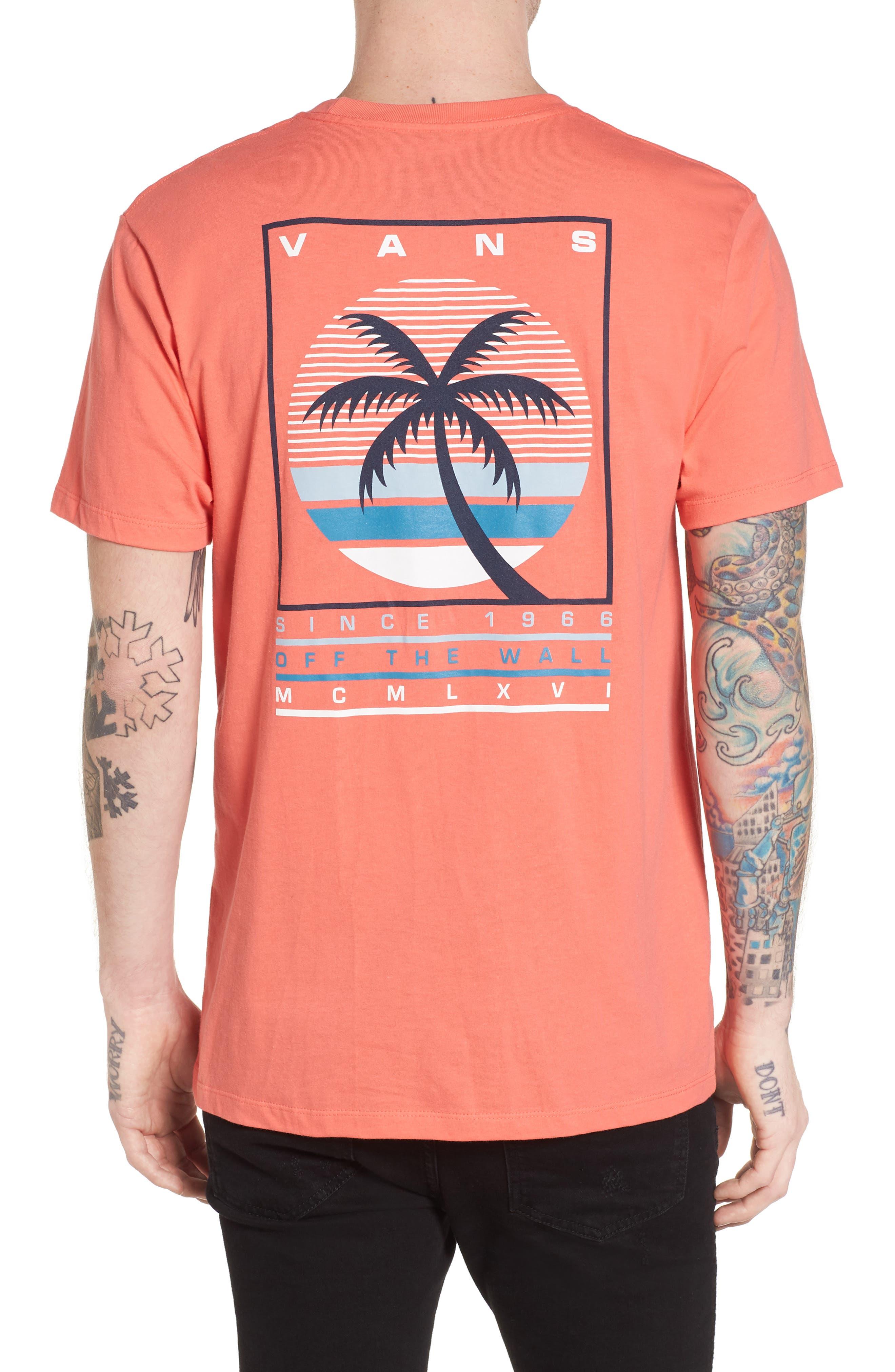 Tall Palms Graphic T-Shirt,                             Alternate thumbnail 2, color,                             Dubarry