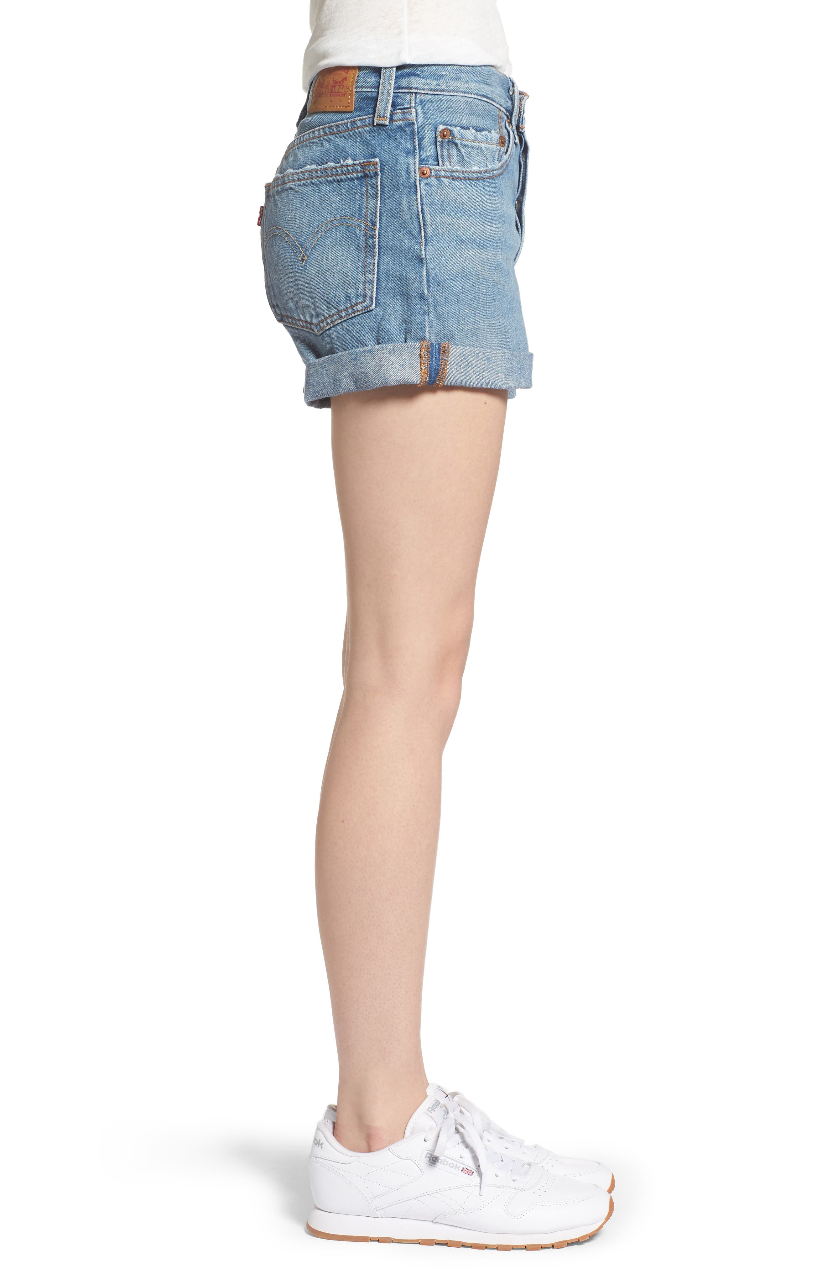 Alternate Image 3  - Levi's® 501® Long Denim Shorts (Highways & Biways)