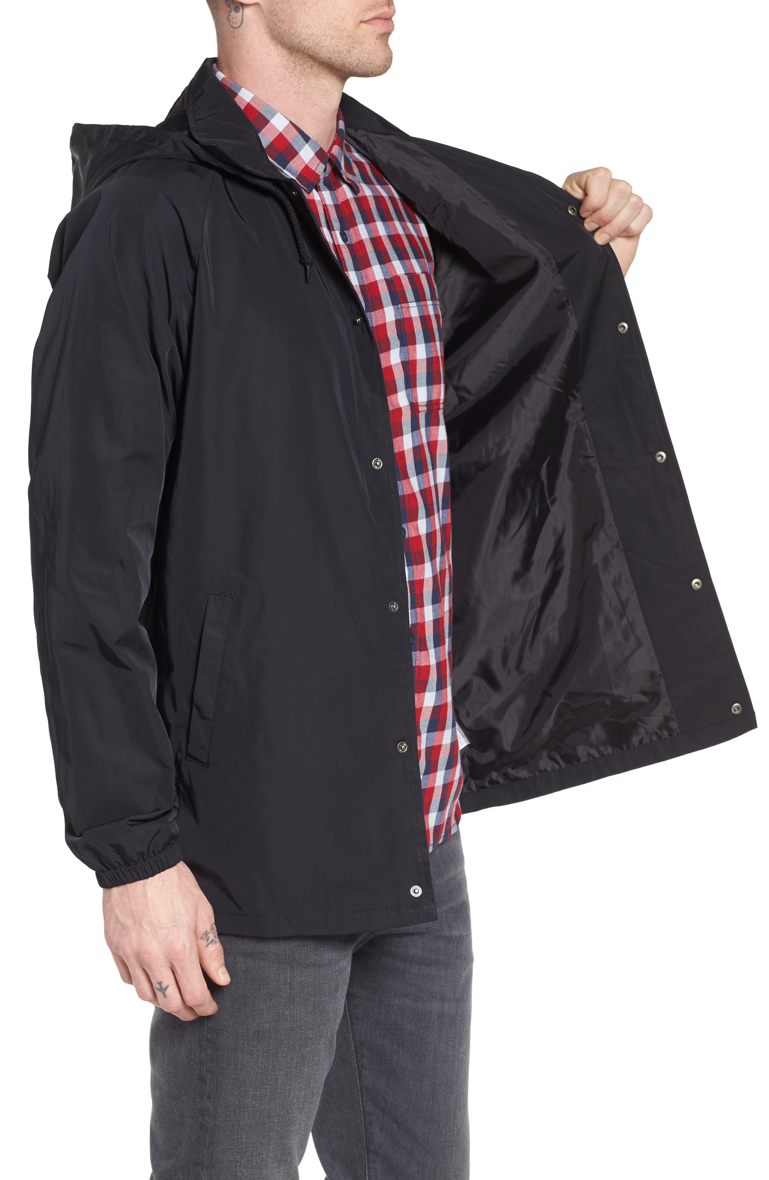 Torrey Water-Resistant Hooded Jacket,                             Alternate thumbnail 3, color,                             Black
