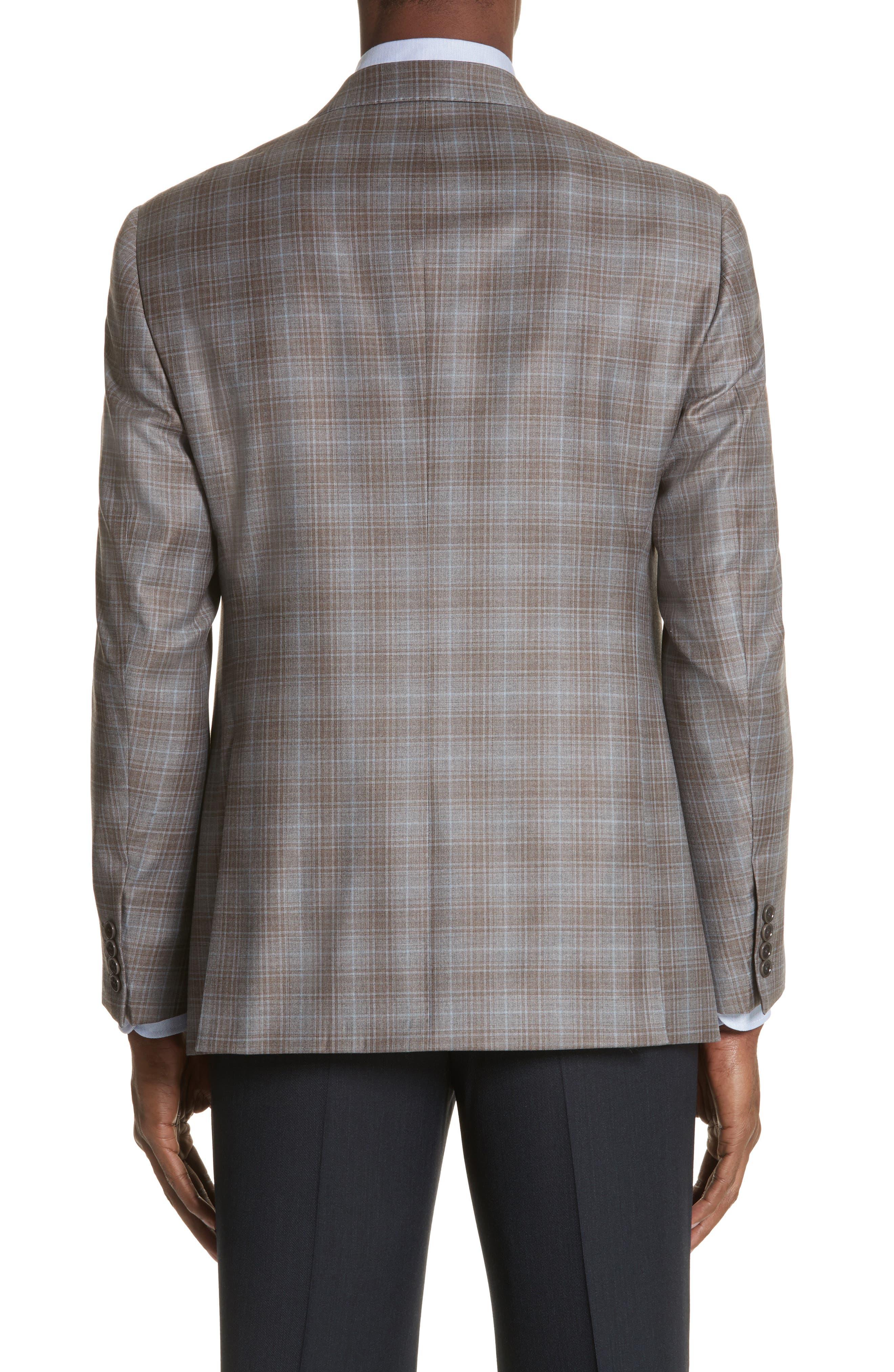 G-Line Trim Fit Plaid Wool Sport Coat,                             Alternate thumbnail 2, color,                             Tan