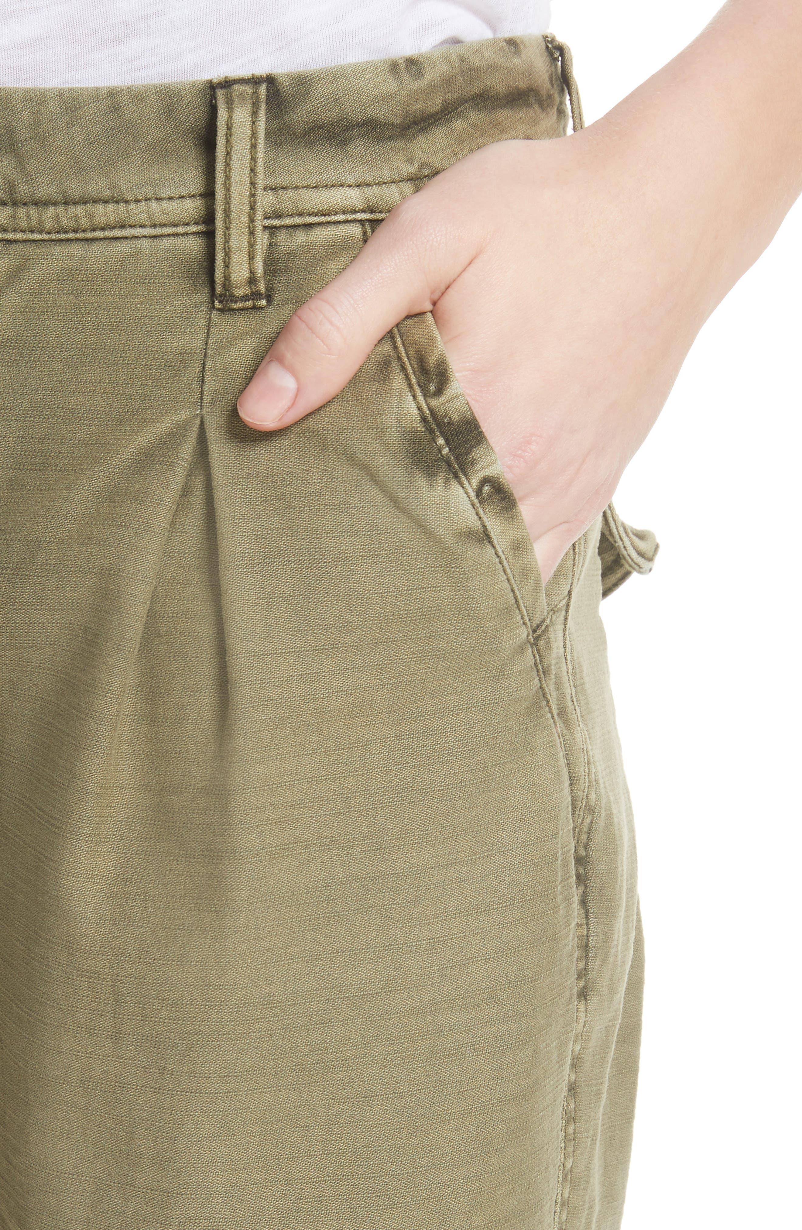 Utility Boyfriend Pants,                             Alternate thumbnail 4, color,                             Moss