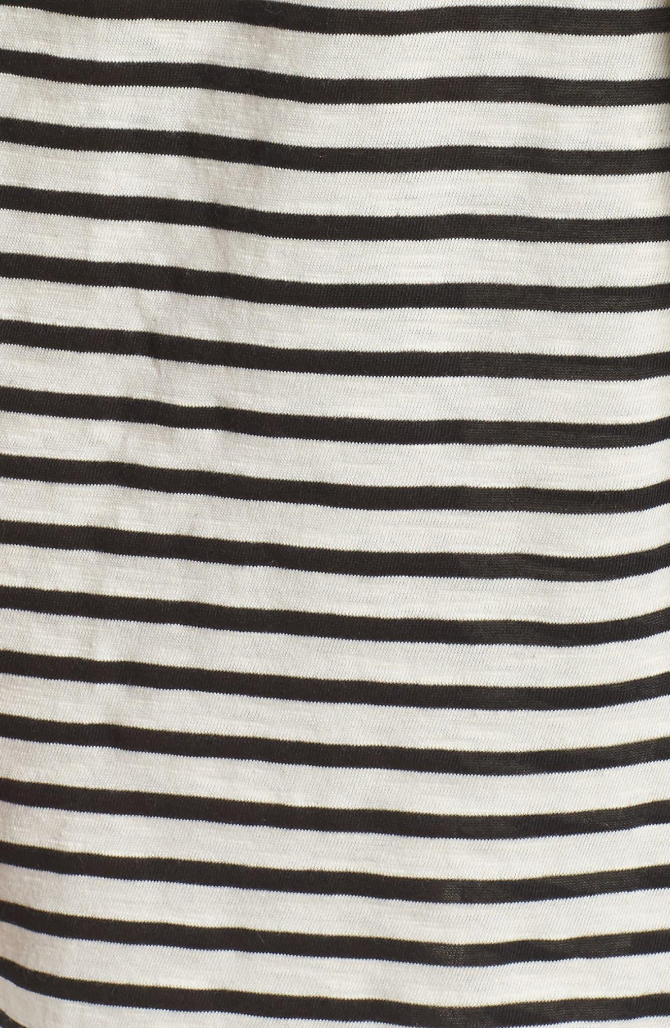 Florence Short Robe,                             Alternate thumbnail 6, color,                             Pearl Stripe