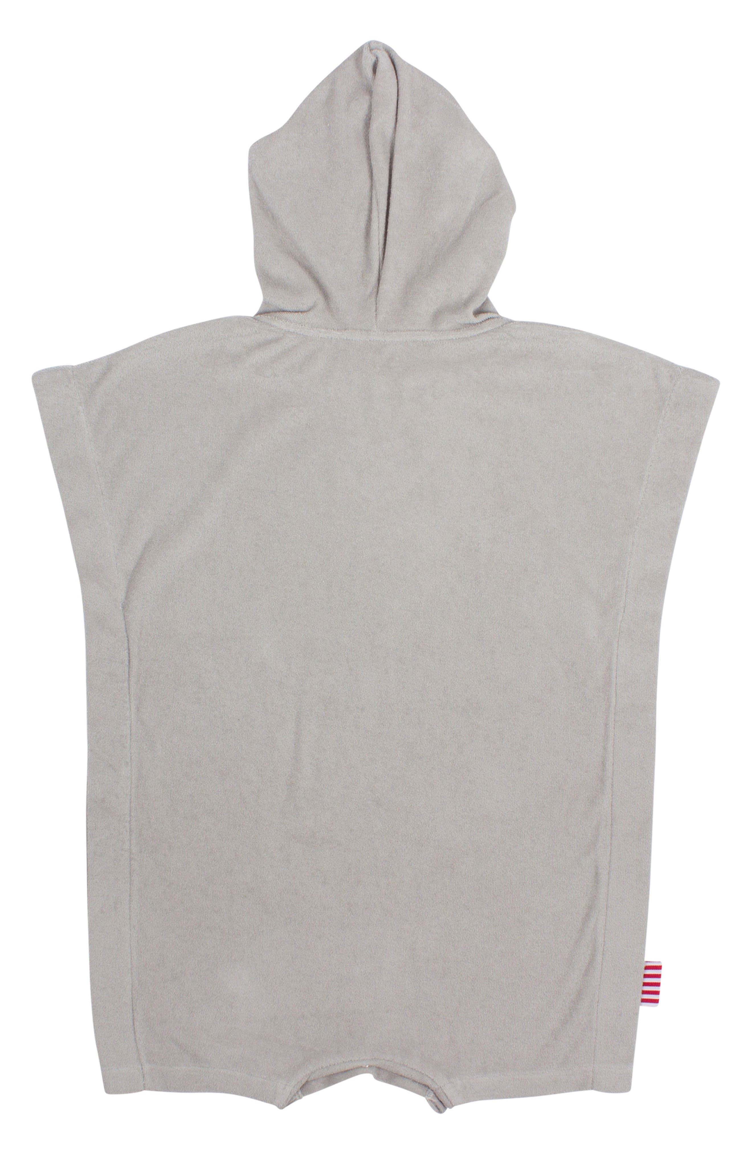 Bear Hooded Cover-Up Poncho,                             Alternate thumbnail 2, color,                             Grey