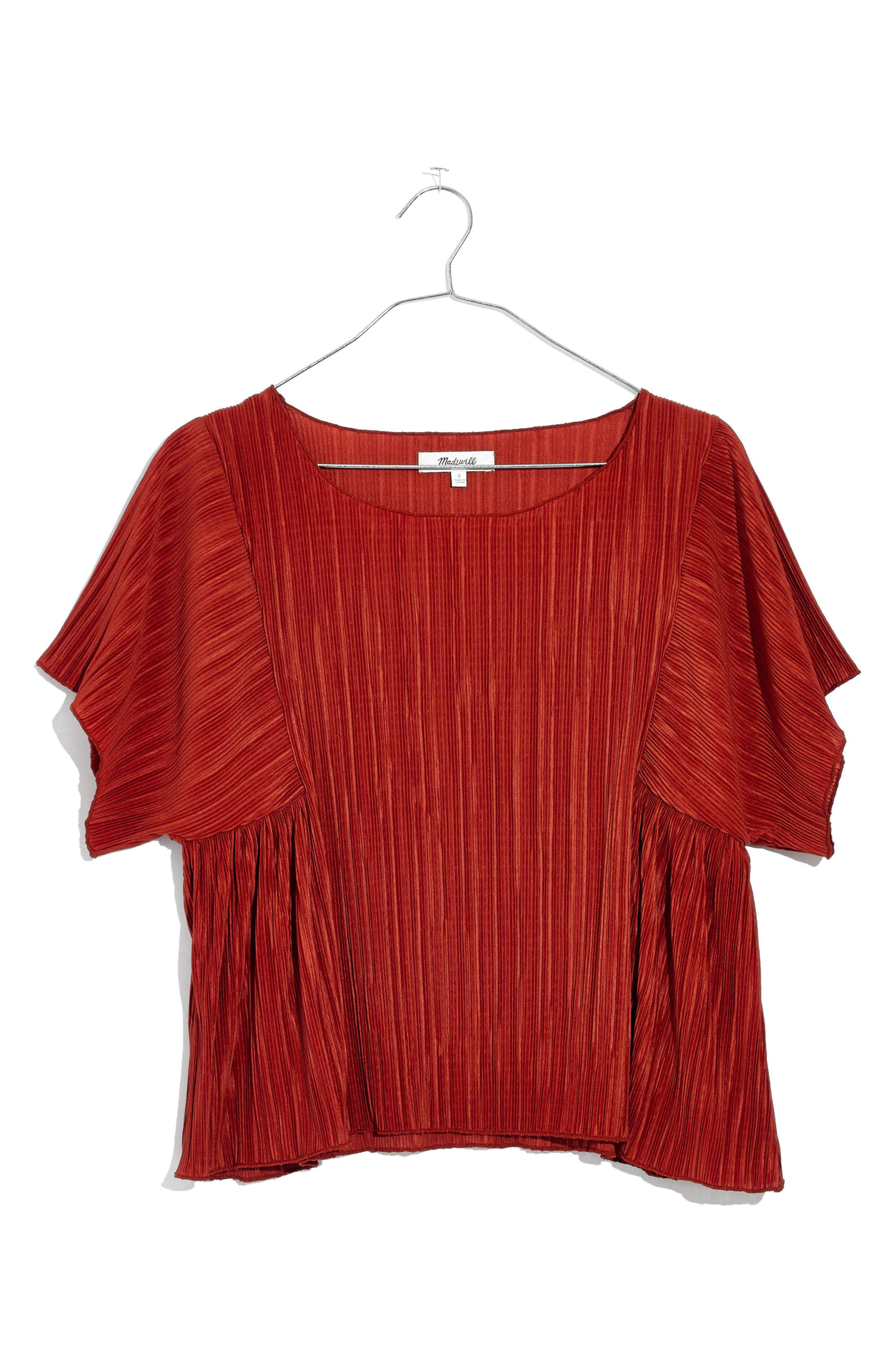 Micropleat Top,                             Alternate thumbnail 7, color,                             Rusty Torch
