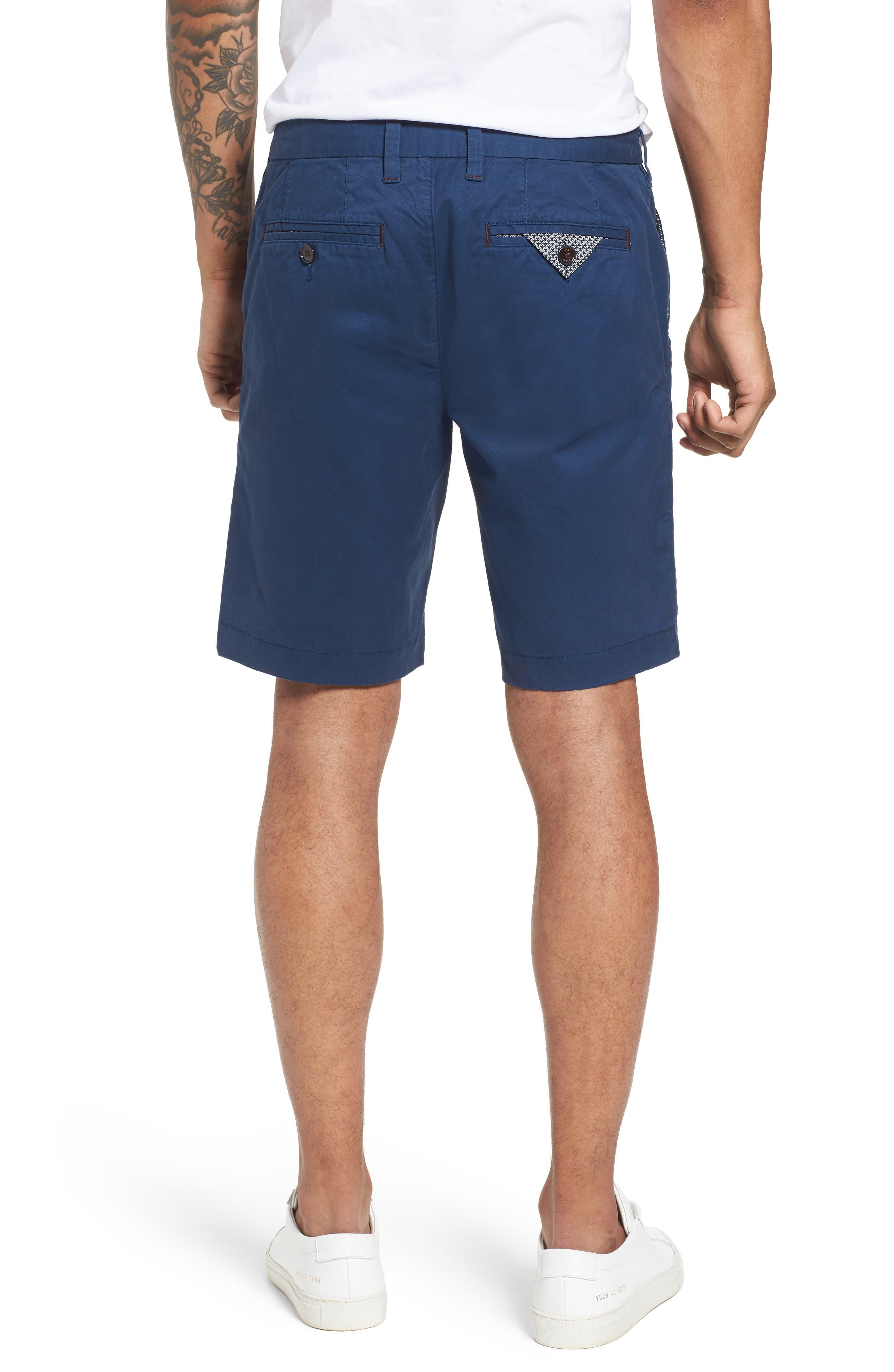 Proshor Slim Fit Chino Shorts,                             Alternate thumbnail 2, color,                             Dark Blue