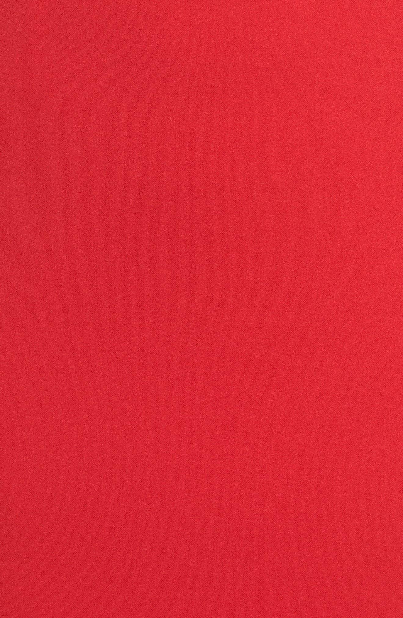 Vionnet Drape Back Crepe Gown,                             Alternate thumbnail 5, color,                             Red