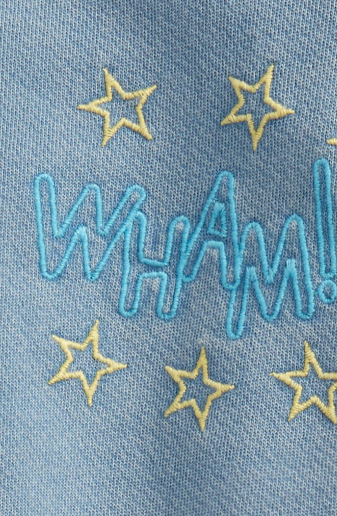 Embroidered Romper,                             Alternate thumbnail 2, color,                             Blue Dusk