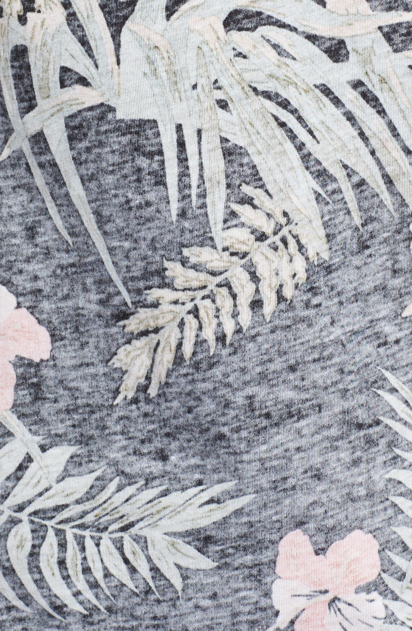 Print T-Shirt,                             Alternate thumbnail 5, color,                             Floral/ Multi