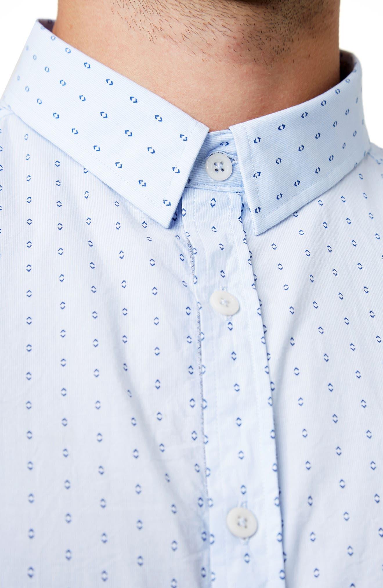 Automation Woven Shirt,                             Alternate thumbnail 4, color,                             Lt. Blue