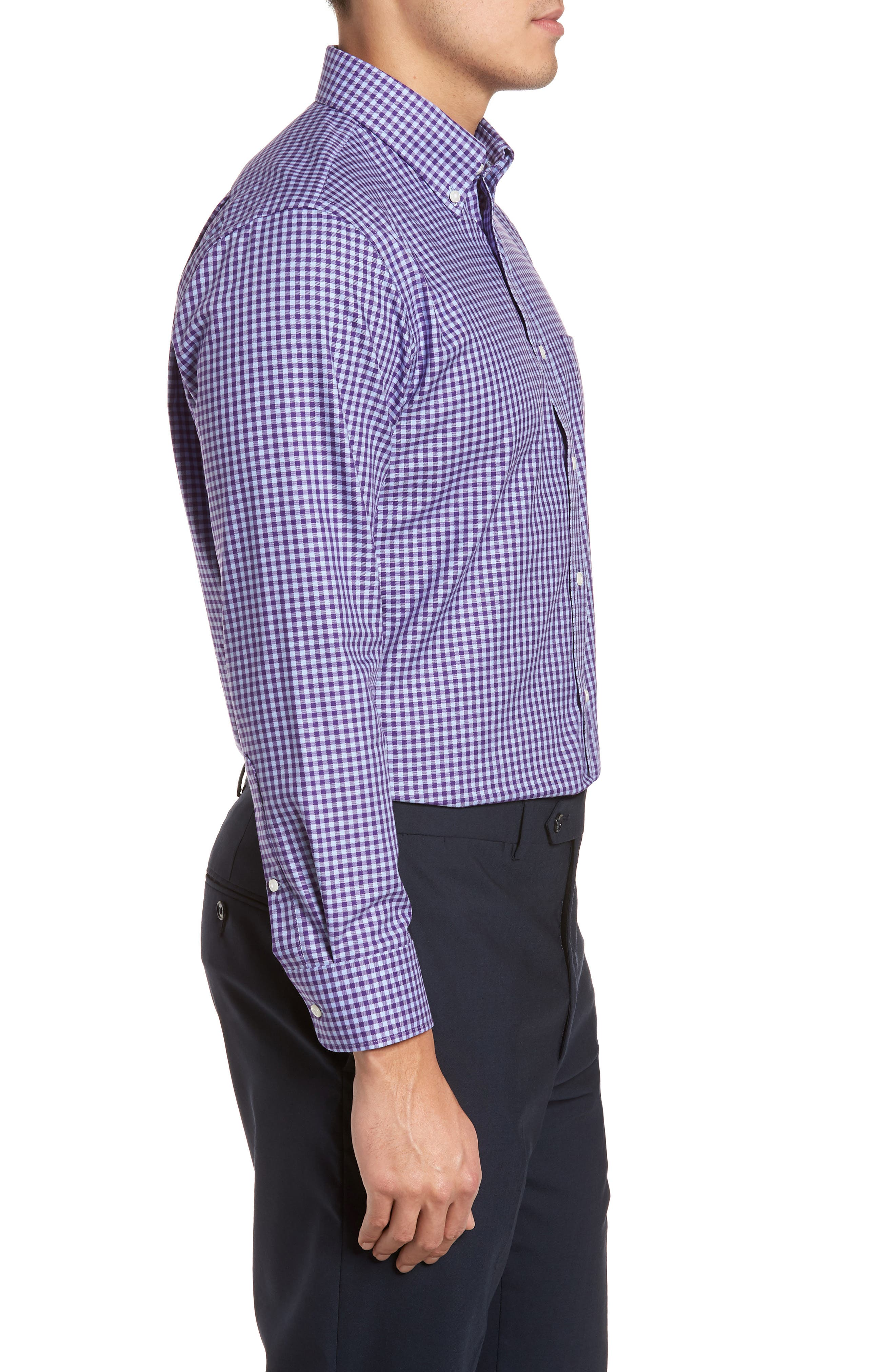 Alternate Image 3  - Nordstrom Men's Shop Trim Fit Non-Iron Gingham Dress Shirt