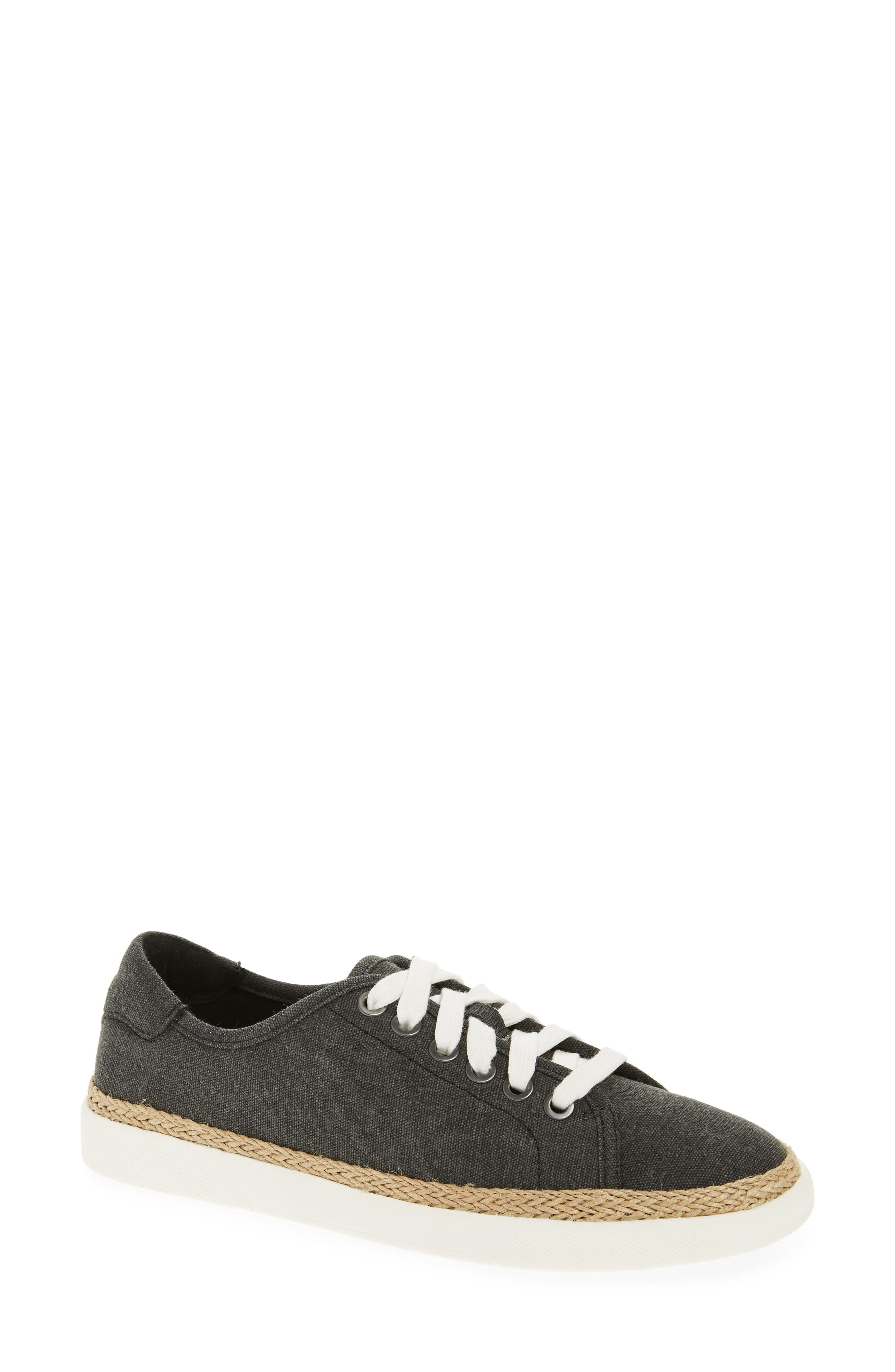 Hattie Sneaker,                             Main thumbnail 1, color,                             Black Canvas