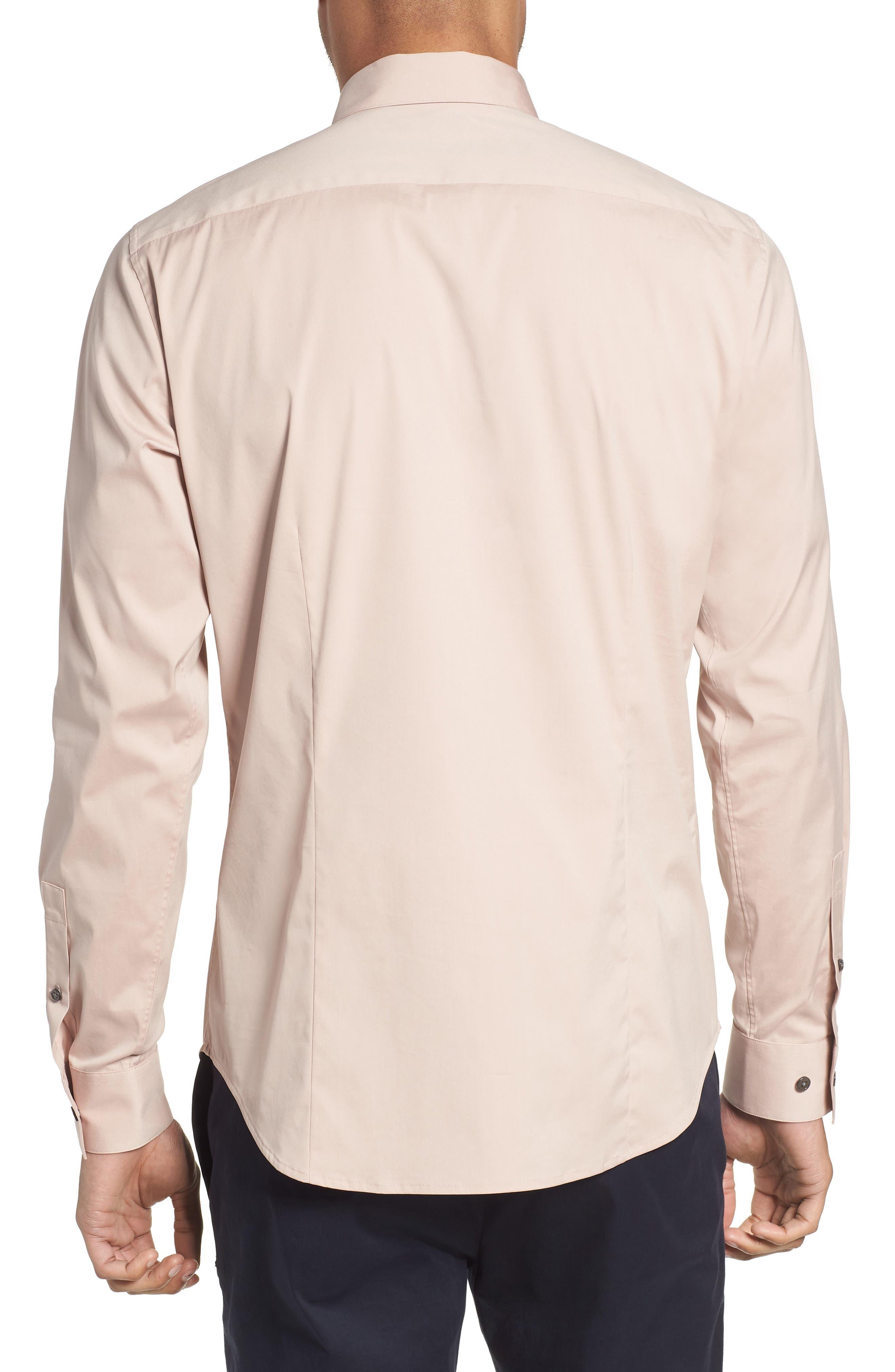'Sylvain' Trim Fit Long Sleeve Sport Shirt,                             Alternate thumbnail 2, color,                             Lotus