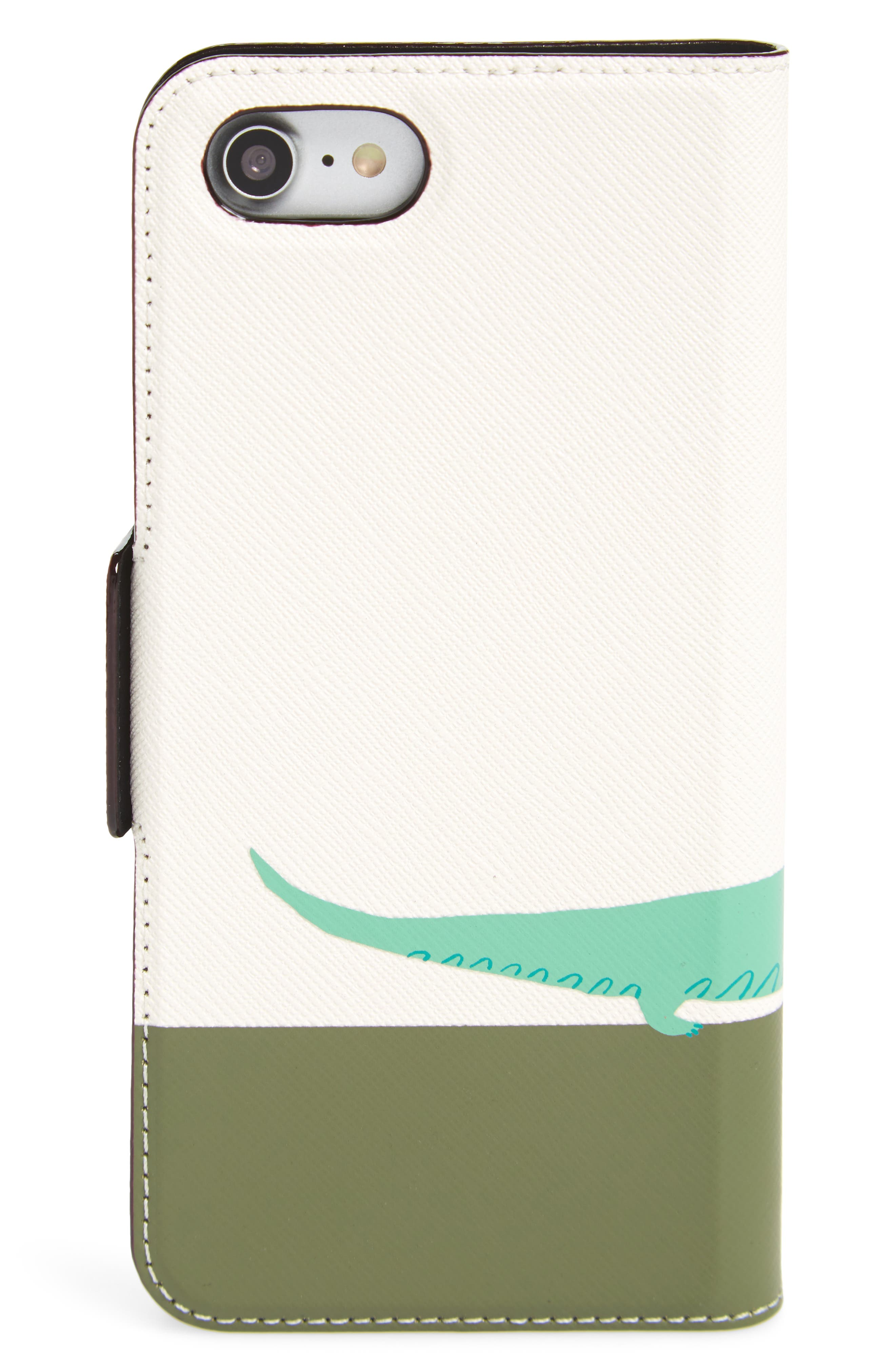 see you later leather iPhone 7/8 & 7/8 Plus folio case,                             Alternate thumbnail 2, color,                             Multi
