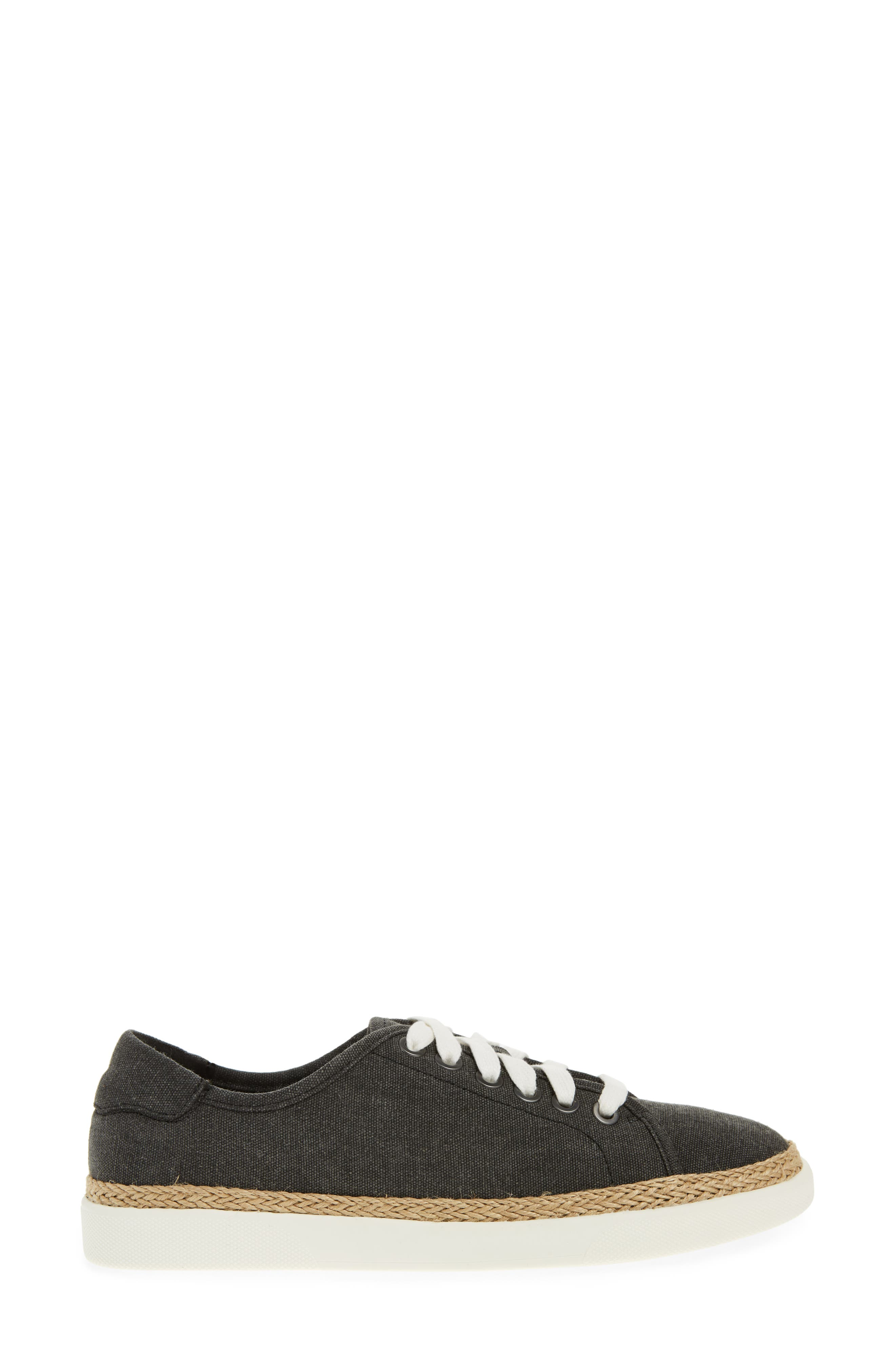 Hattie Sneaker,                             Alternate thumbnail 3, color,                             Black Canvas