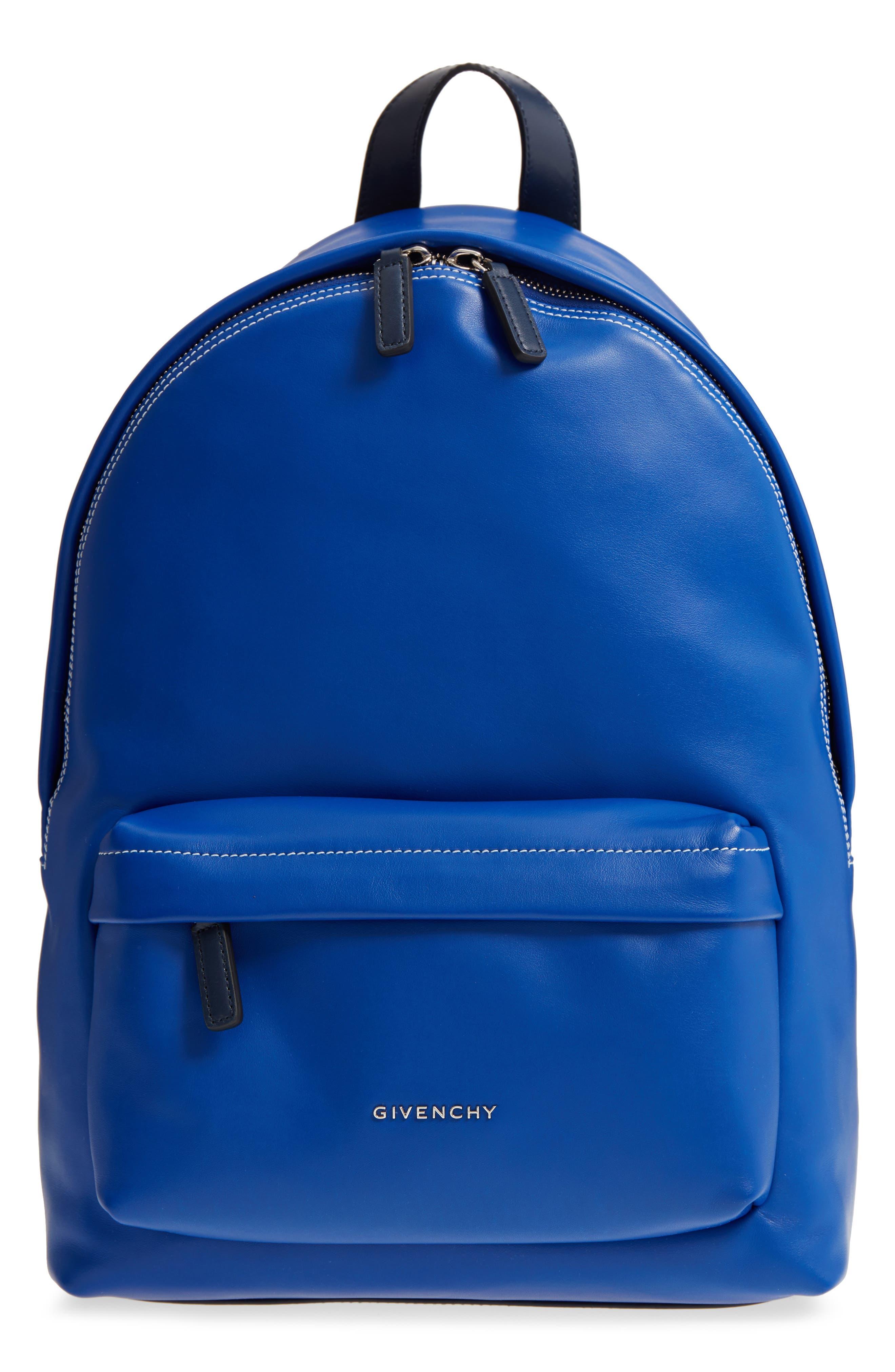 Logo Strap Backpack,                             Main thumbnail 1, color,                             Morroccan Blue