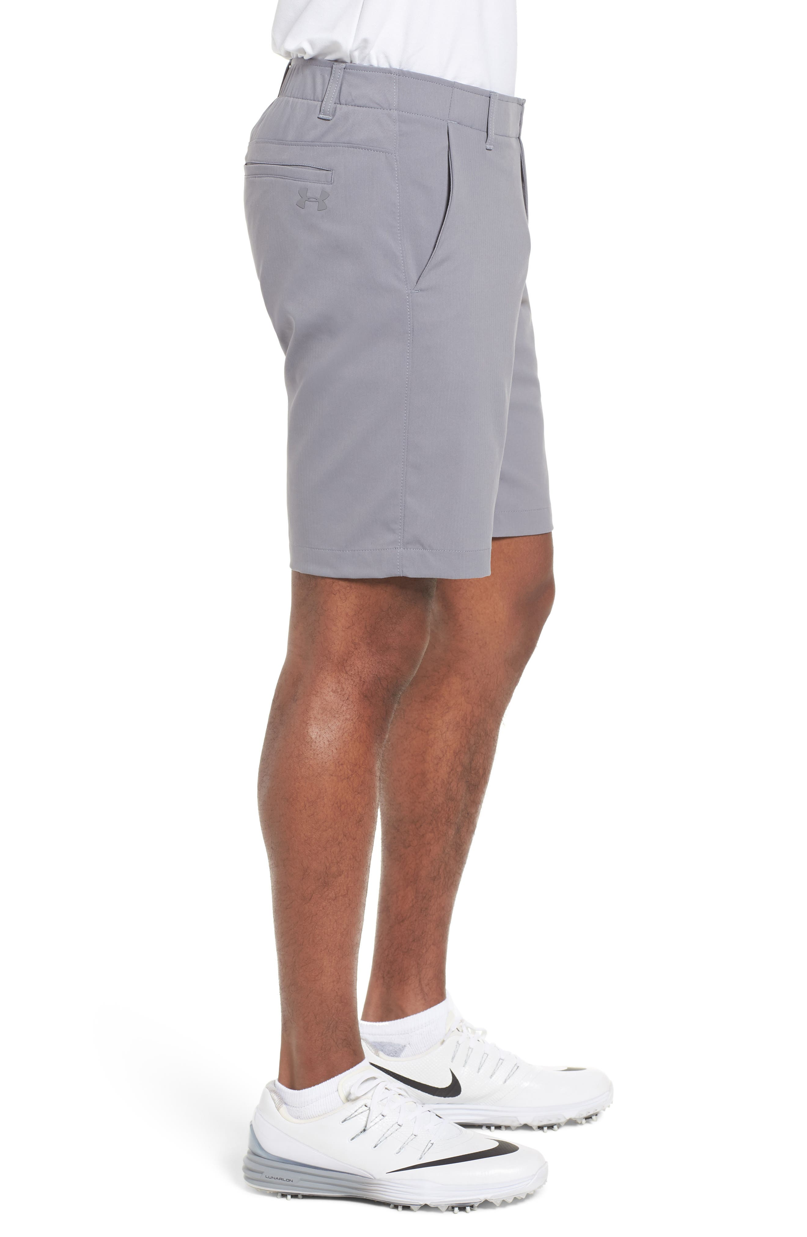 Takeover Regular Fit Golf Shorts,                             Alternate thumbnail 3, color,                             Zinc Grey