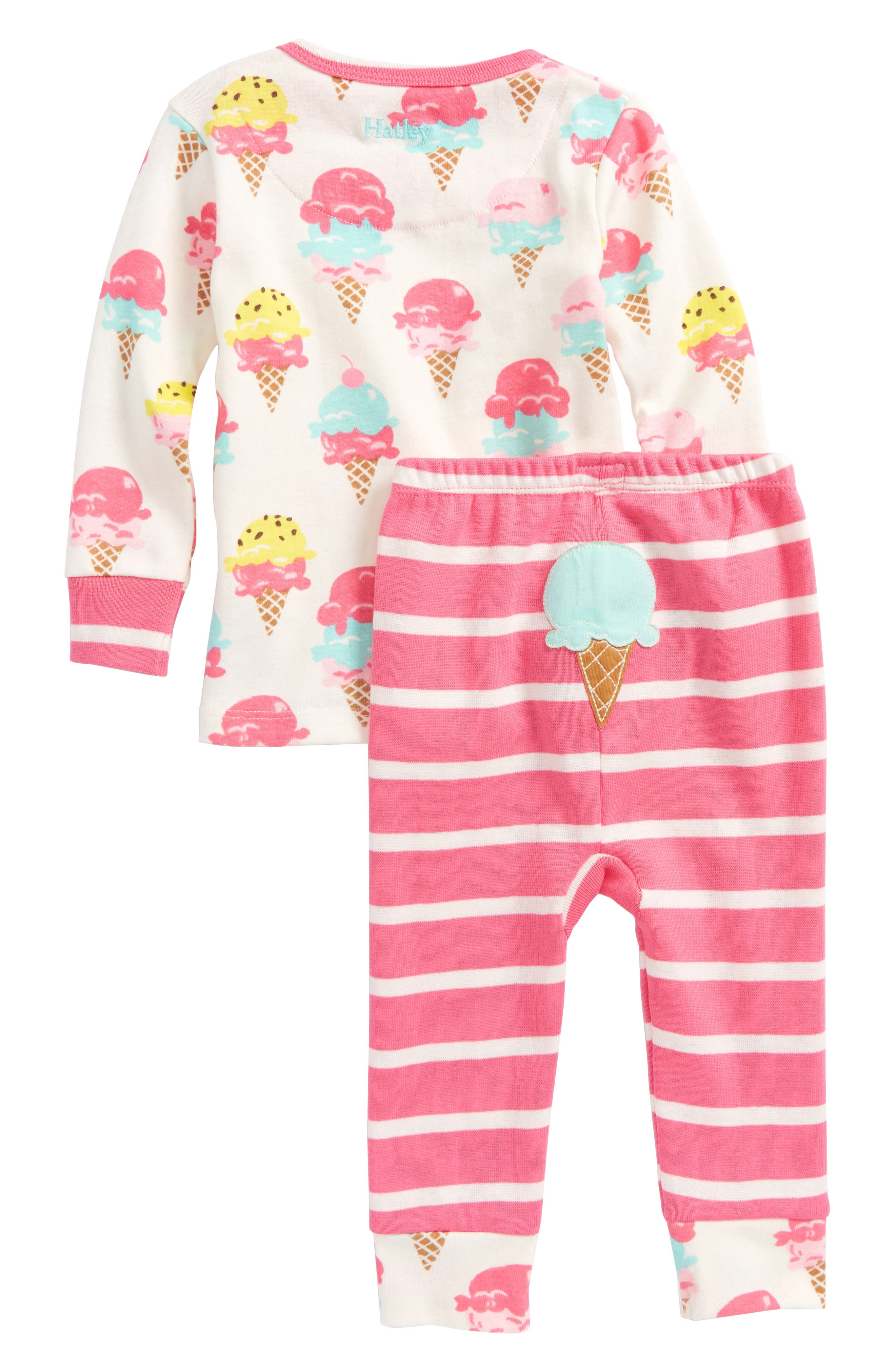 Hatley Ice Cream Treats Organic Cotton Fitted Two-Piece Pajamas (Baby Girls)