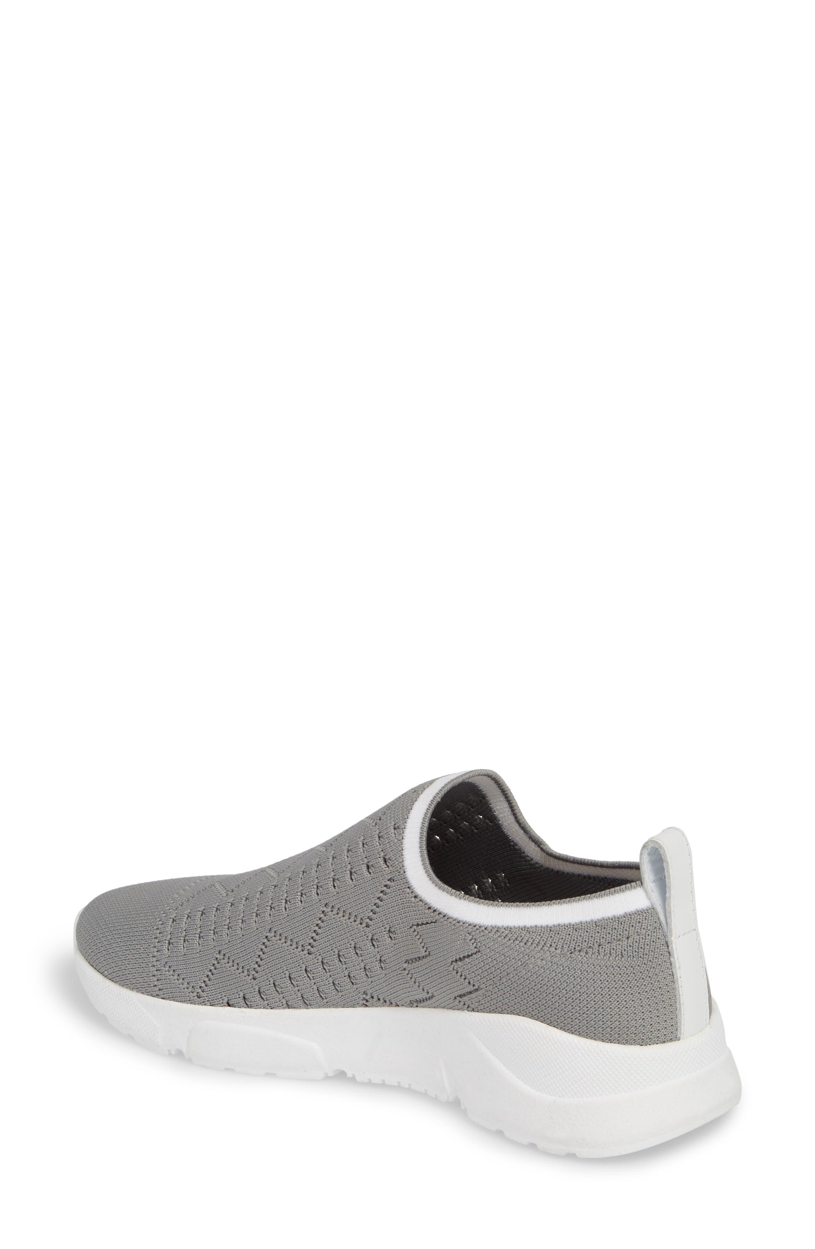 Karrie Slip-On Sneaker,                             Alternate thumbnail 2, color,                             Grey Stretch Fabric