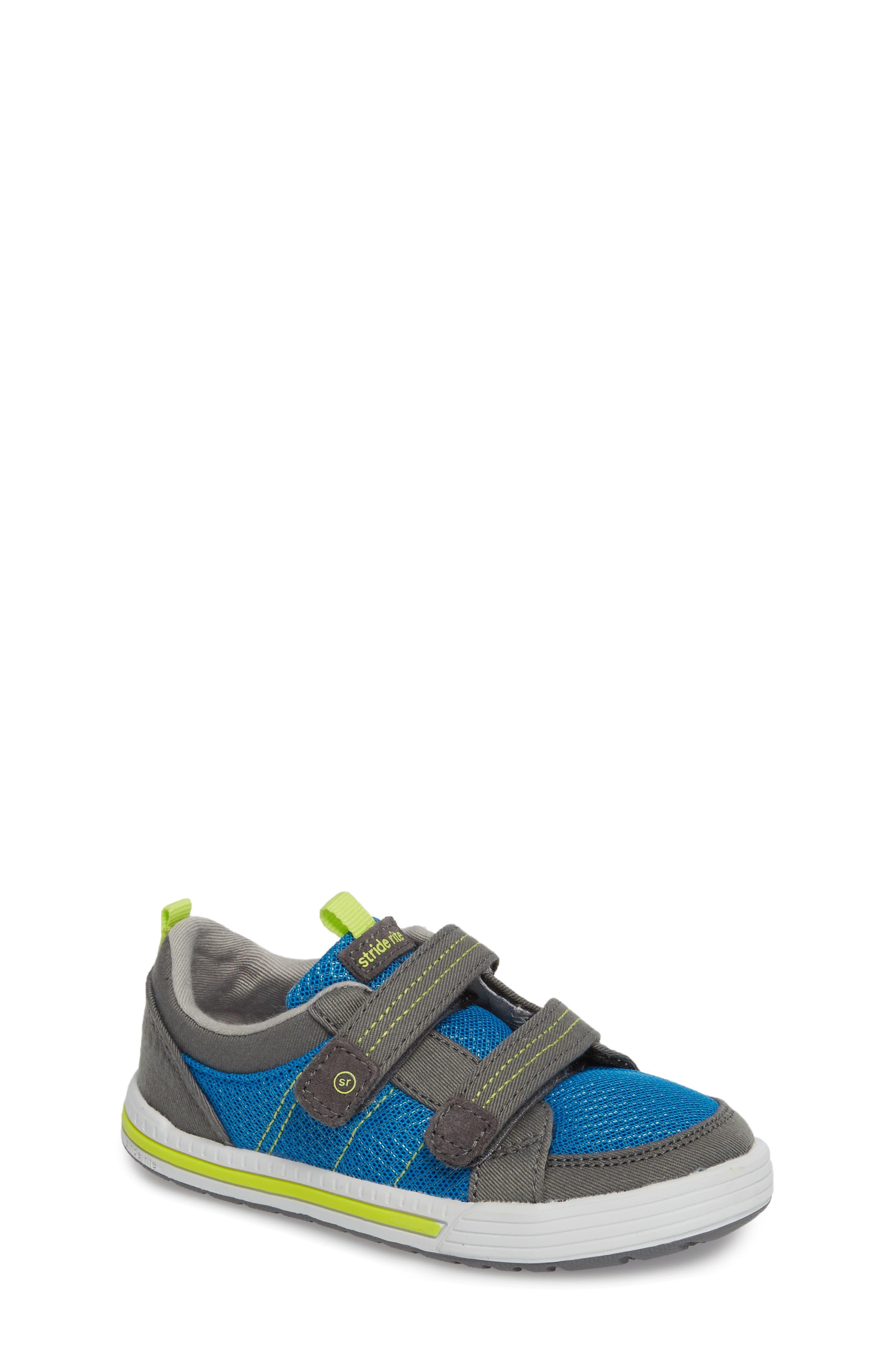 Logan Sneaker,                         Main,                         color, Blue/ Grey