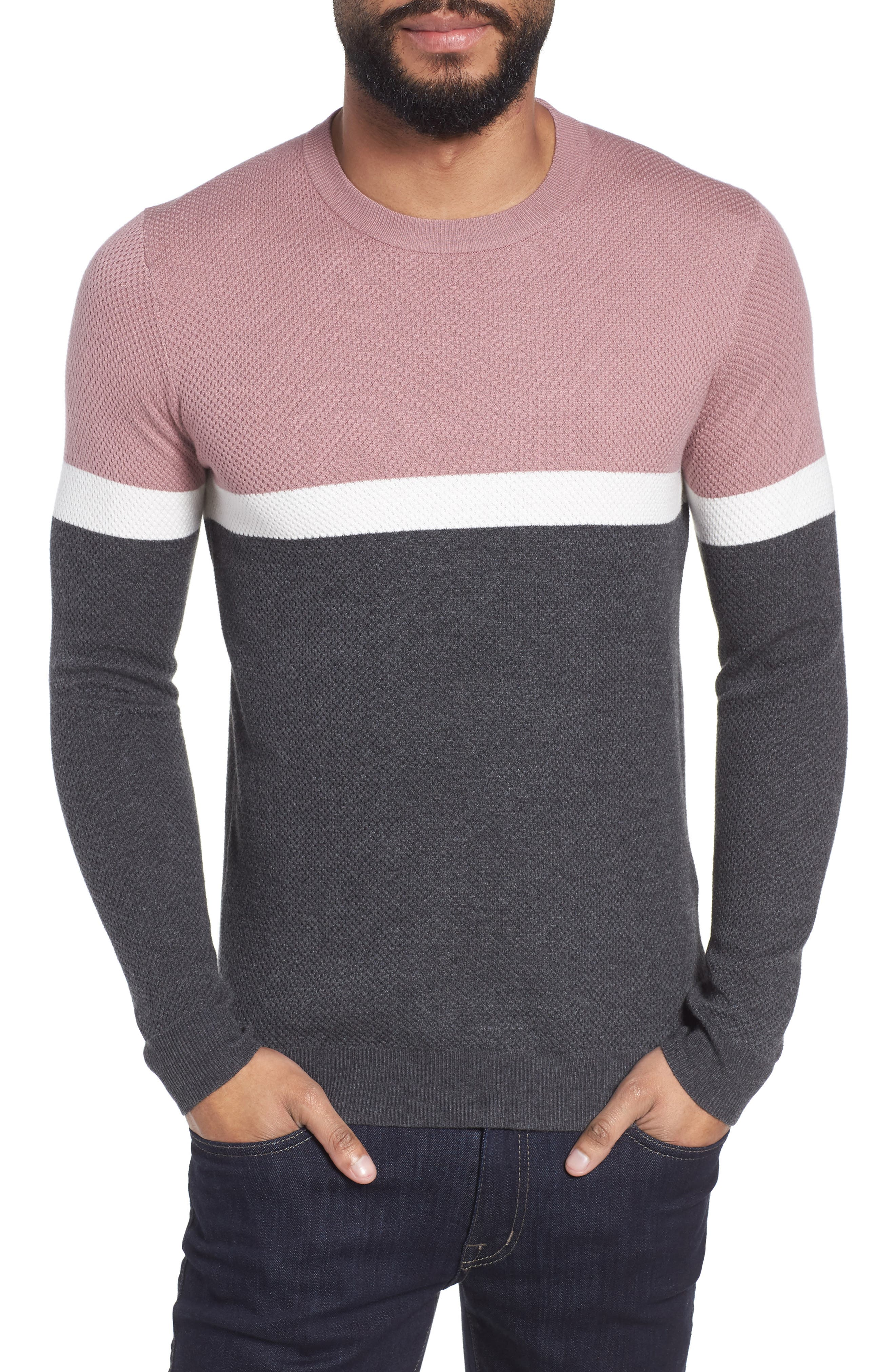 Ted Baker London Spears Trim Fit Colorblock Sweater