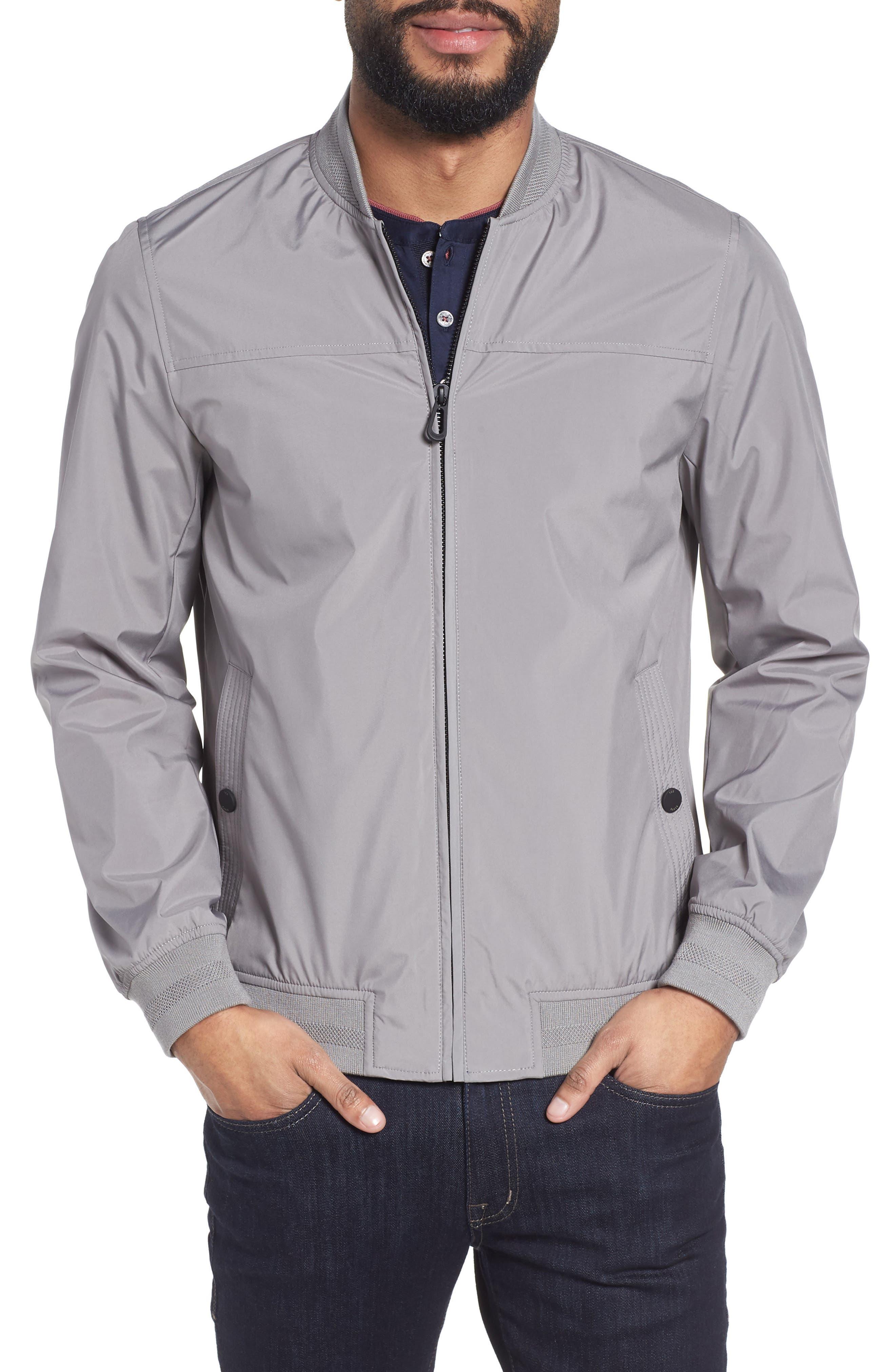 Ohtatt Bomber Jacket,                         Main,                         color, Grey