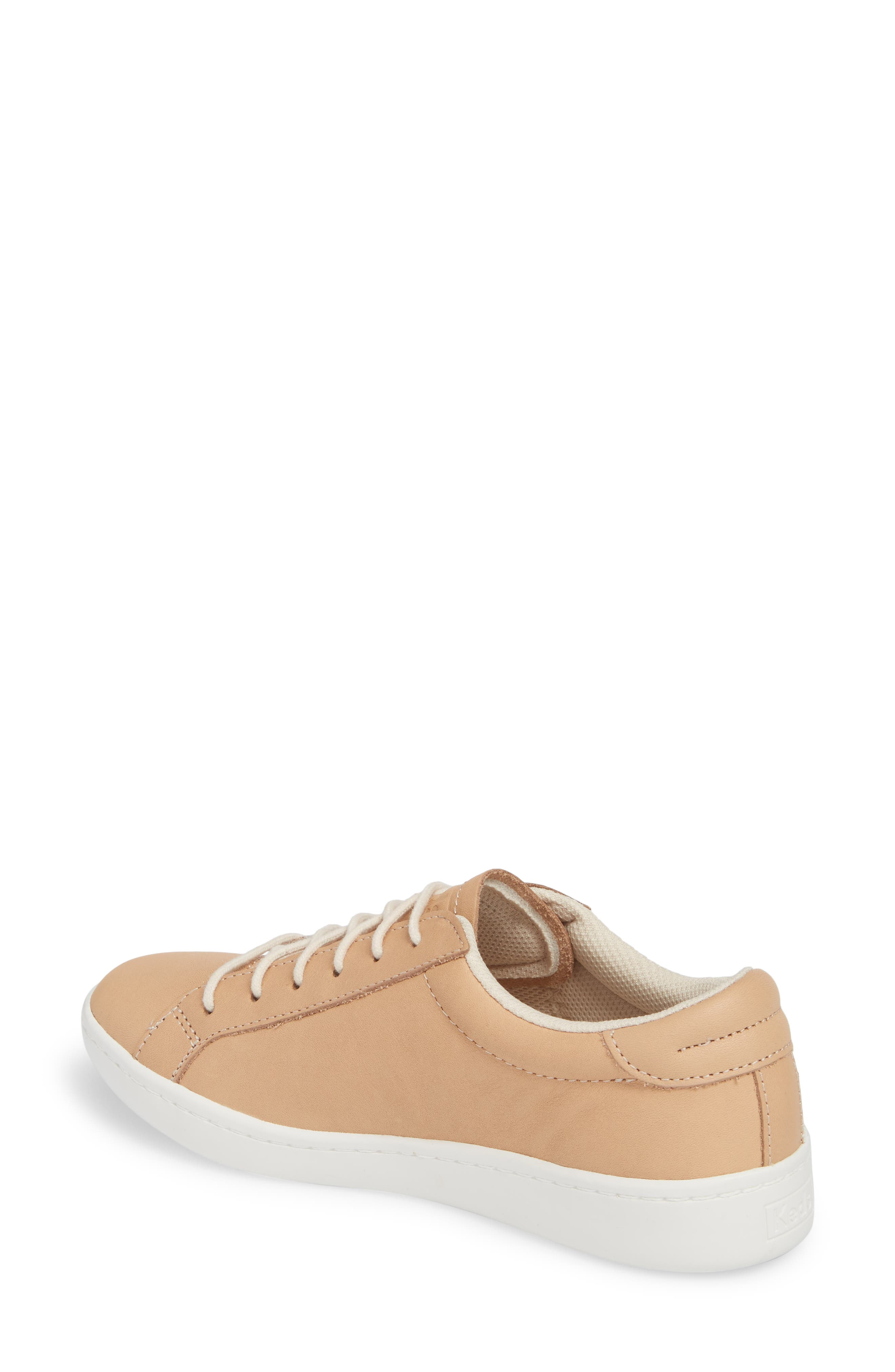 Ace Leather Sneaker,                             Alternate thumbnail 2, color,                             Natural