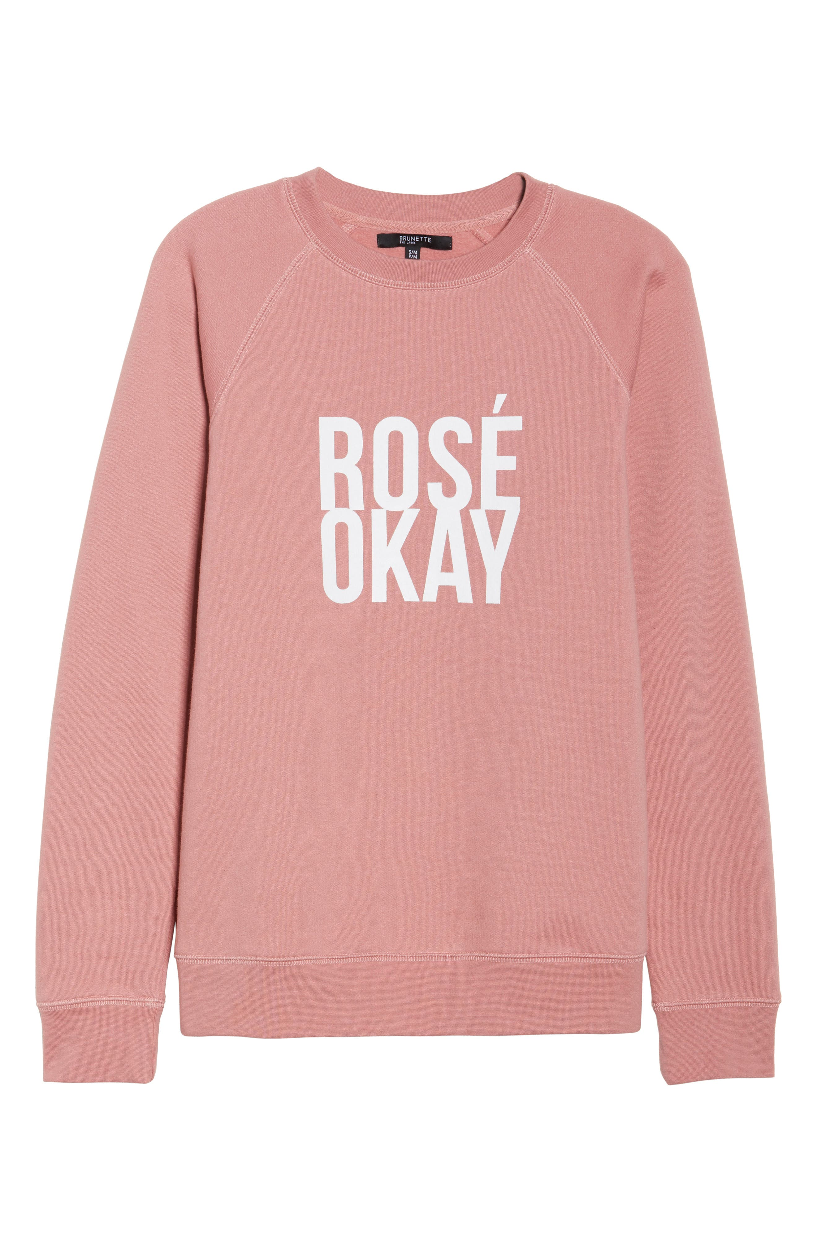 Rosé Okay Sweatshirt,                             Alternate thumbnail 4, color,                             Dusty Rose