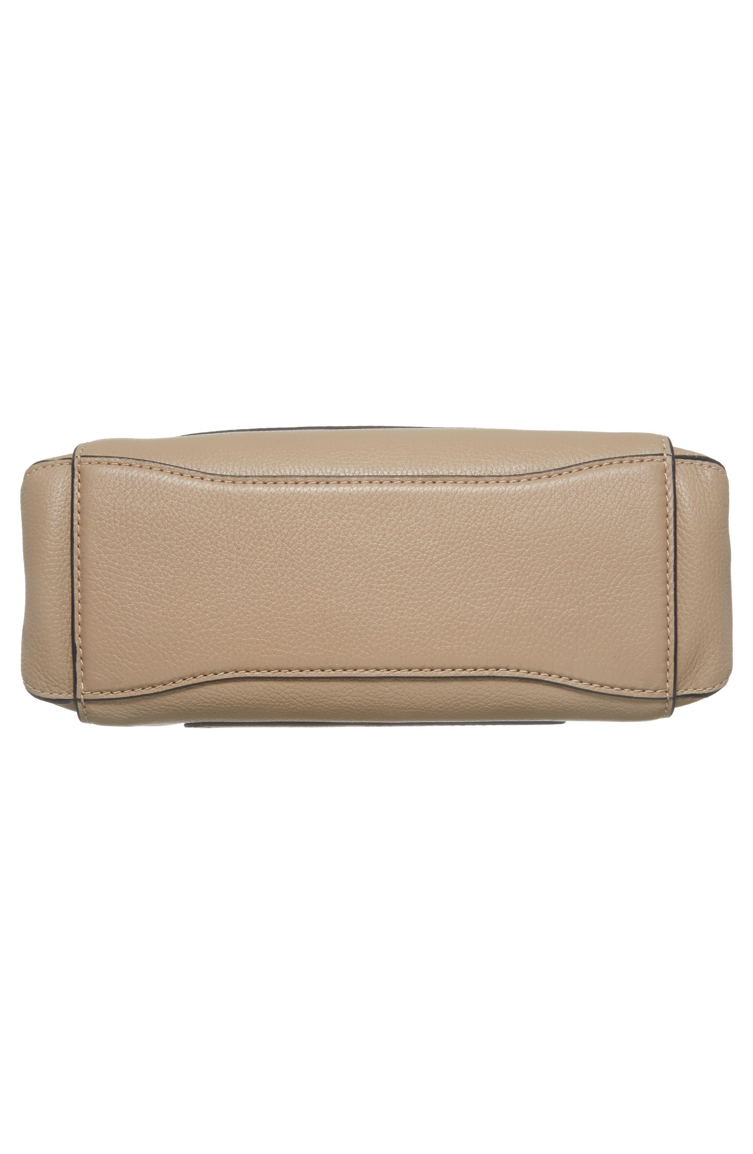 The Grind Boho Leather Shoulder Bag,                             Alternate thumbnail 6, color,                             Light Slate