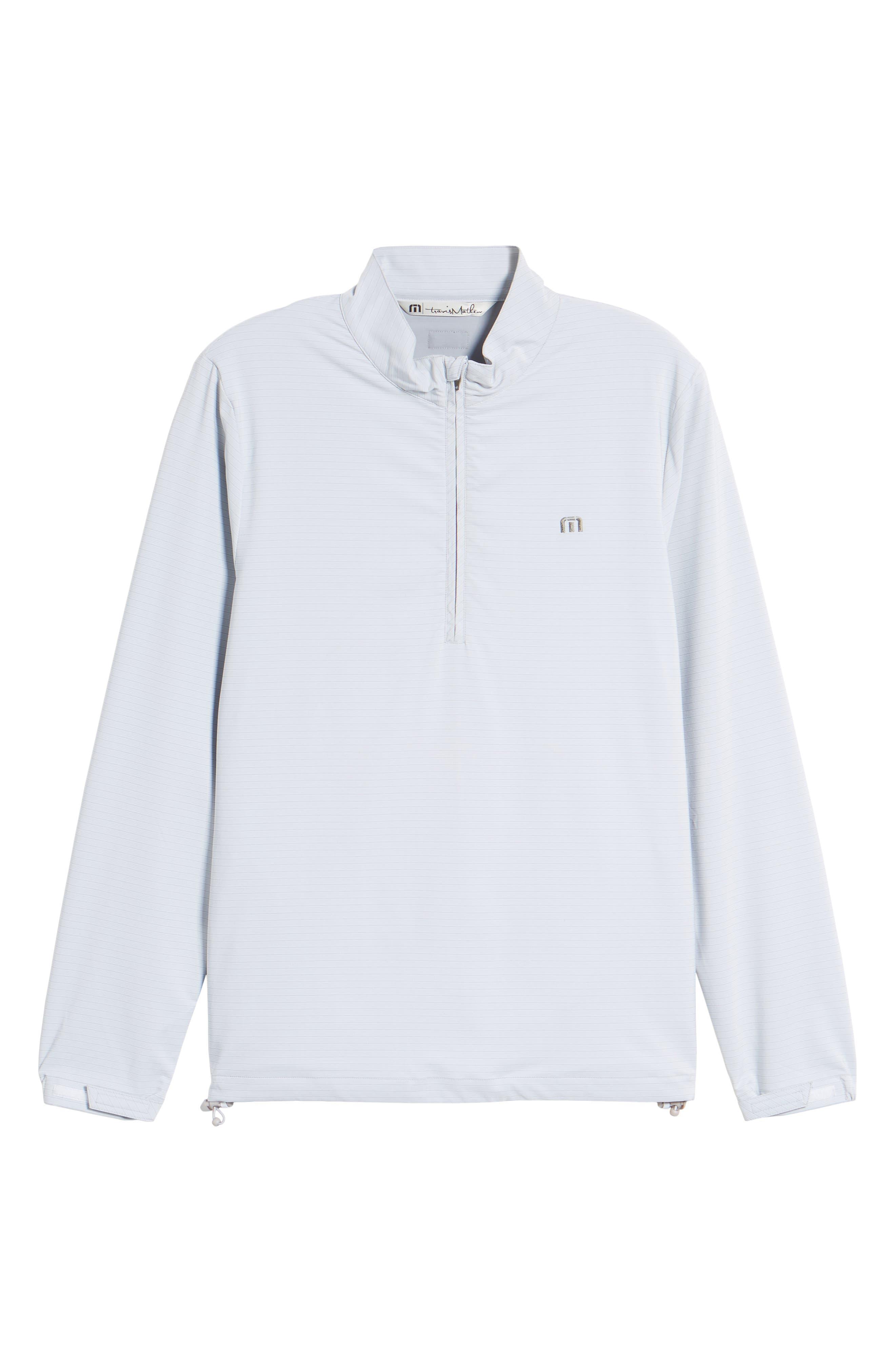 Luca Quarter Zip Pullover,                             Alternate thumbnail 6, color,                             Micro Chip/ White